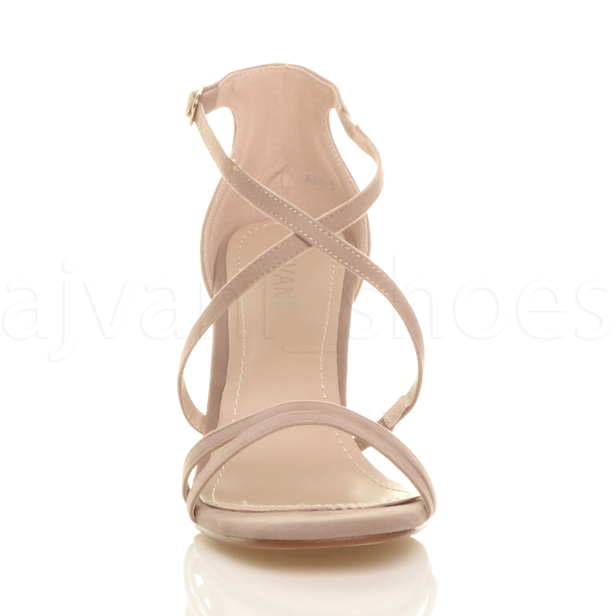 WOMENS-LADIES-MID-HIGH-HEEL-STRAPPY-CROSSOVER-WEDDING-PROM-SANDALS-SHOES-SIZE thumbnail 118