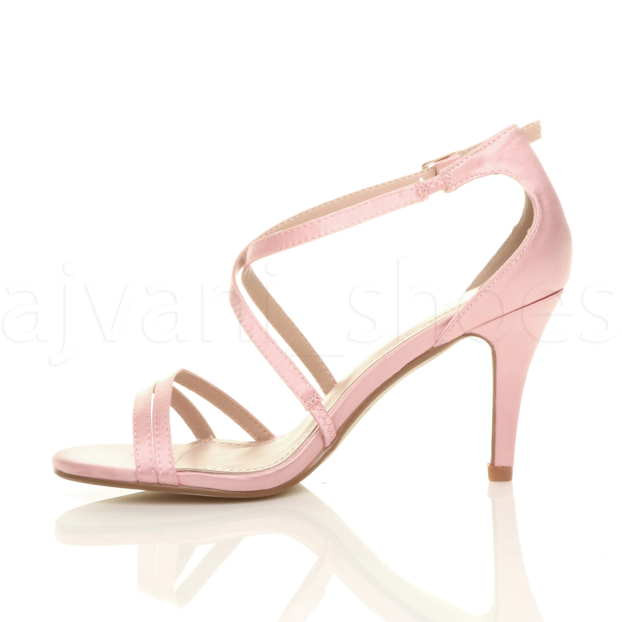 WOMENS-LADIES-MID-HIGH-HEEL-STRAPPY-CROSSOVER-WEDDING-PROM-SANDALS-SHOES-SIZE thumbnail 4