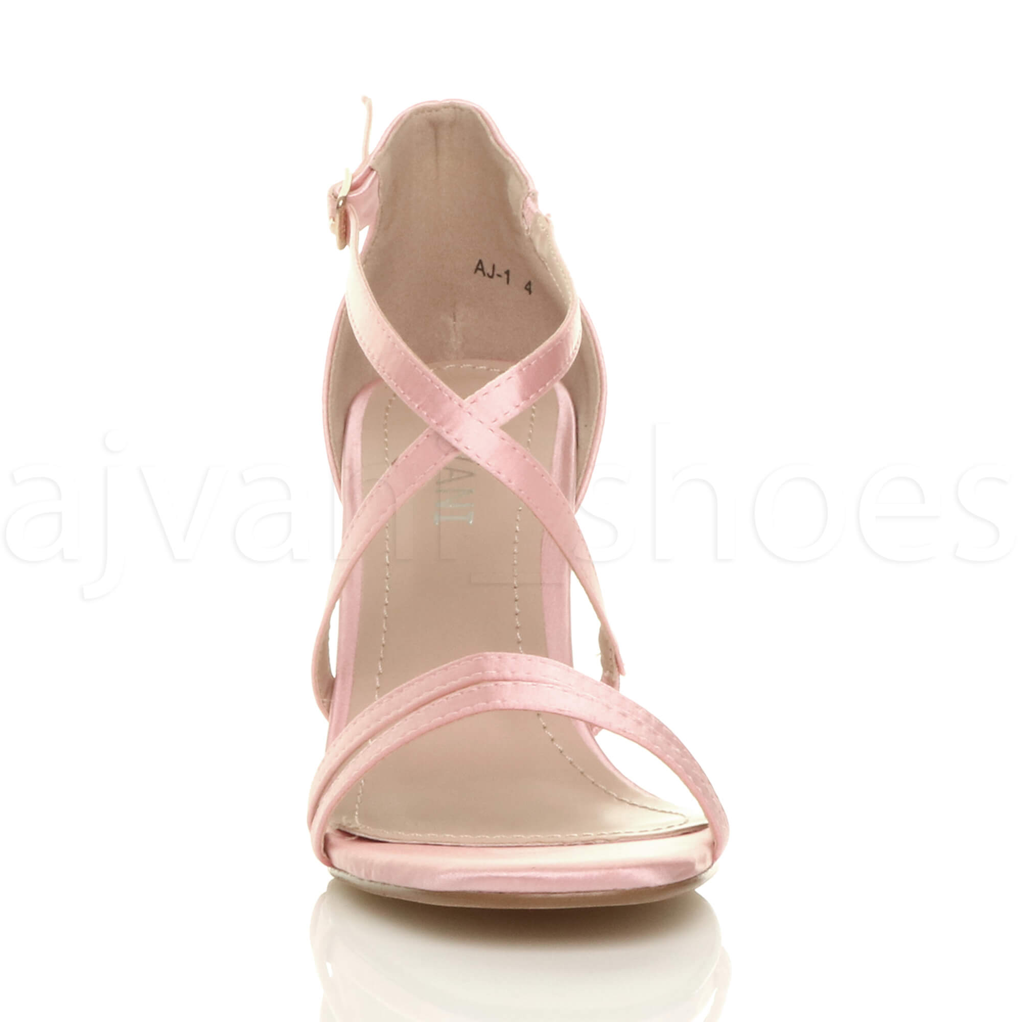 WOMENS-LADIES-MID-HIGH-HEEL-STRAPPY-CROSSOVER-WEDDING-PROM-SANDALS-SHOES-SIZE thumbnail 6