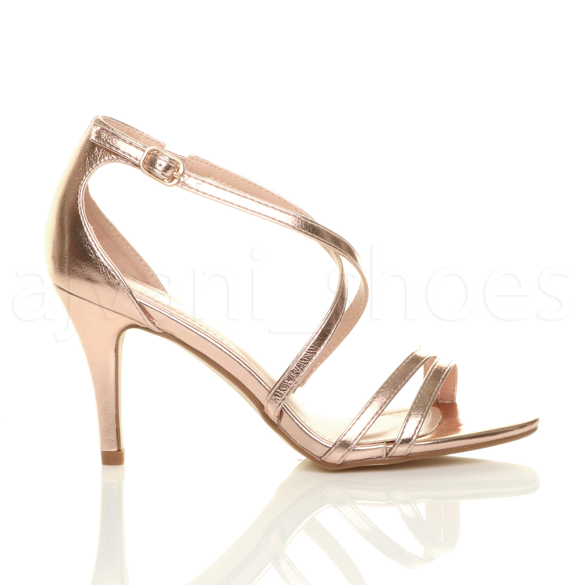 WOMENS-LADIES-MID-HIGH-HEEL-STRAPPY-CROSSOVER-WEDDING-PROM-SANDALS-SHOES-SIZE thumbnail 136