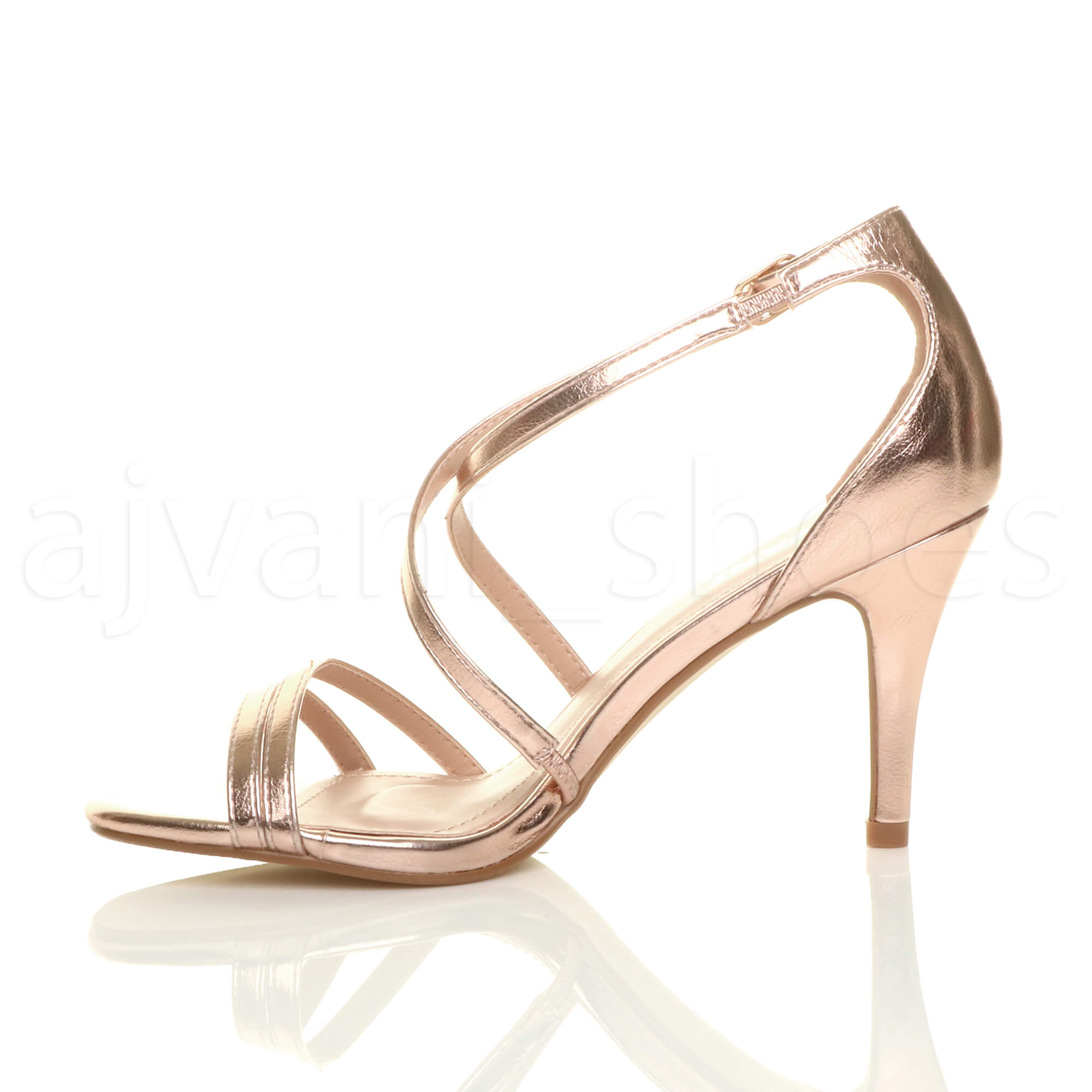 WOMENS-LADIES-MID-HIGH-HEEL-STRAPPY-CROSSOVER-WEDDING-PROM-SANDALS-SHOES-SIZE thumbnail 137