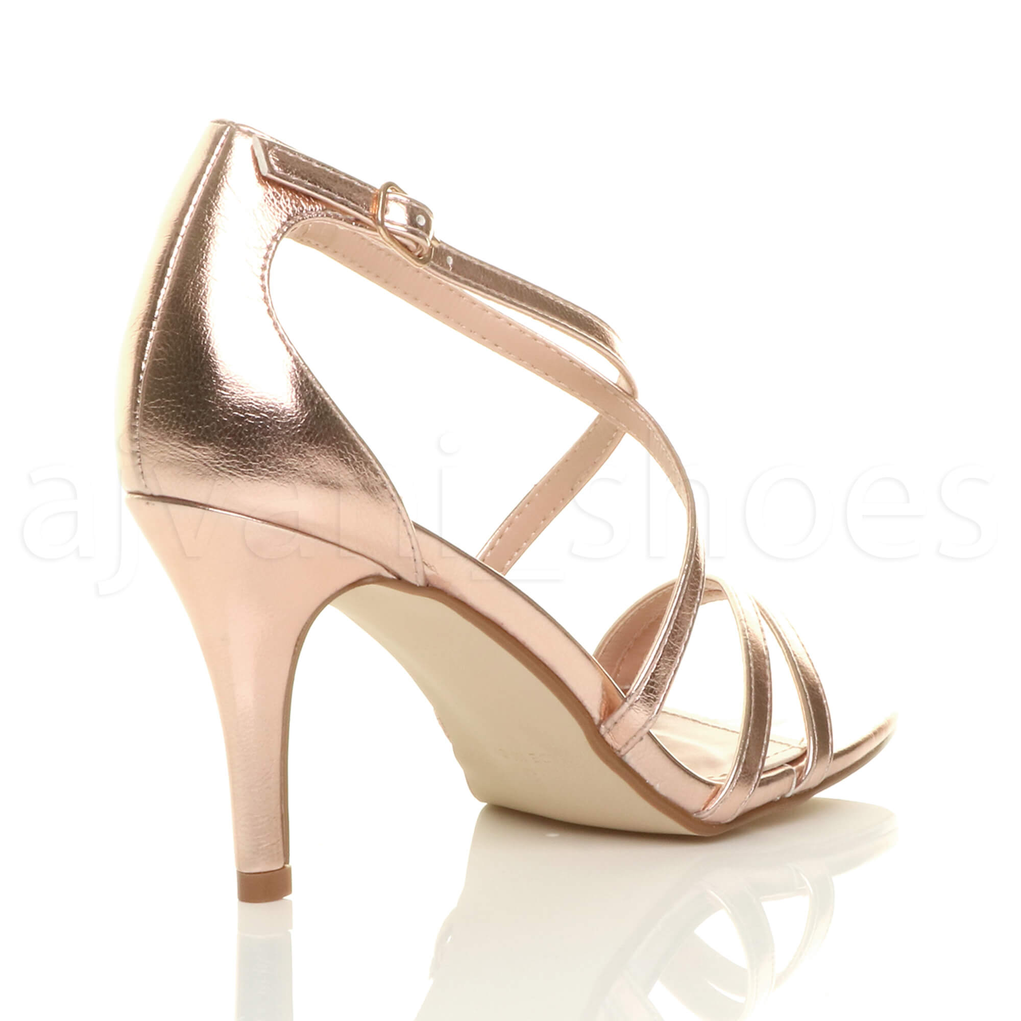 WOMENS-LADIES-MID-HIGH-HEEL-STRAPPY-CROSSOVER-WEDDING-PROM-SANDALS-SHOES-SIZE thumbnail 138