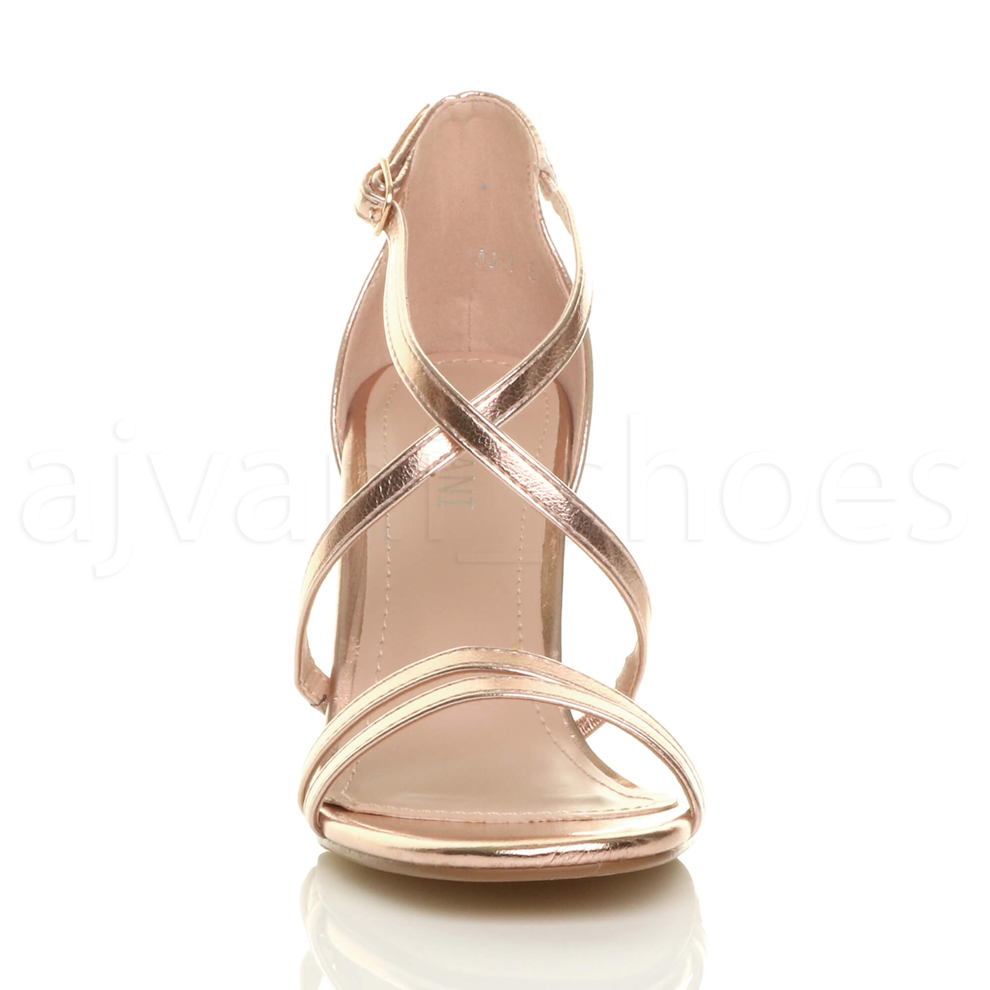 WOMENS-LADIES-MID-HIGH-HEEL-STRAPPY-CROSSOVER-WEDDING-PROM-SANDALS-SHOES-SIZE thumbnail 139
