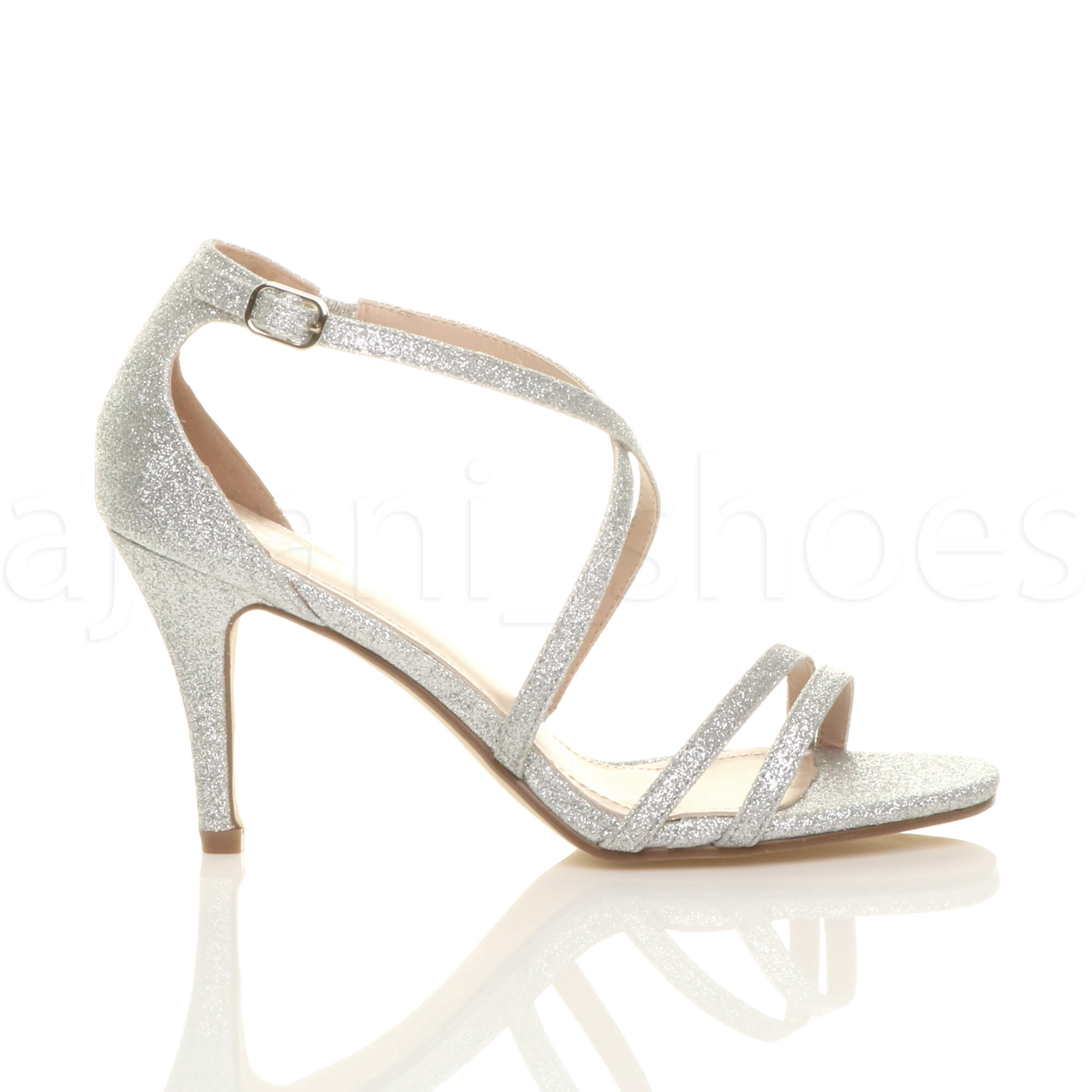 WOMENS-LADIES-MID-HIGH-HEEL-STRAPPY-CROSSOVER-WEDDING-PROM-SANDALS-SHOES-SIZE thumbnail 143