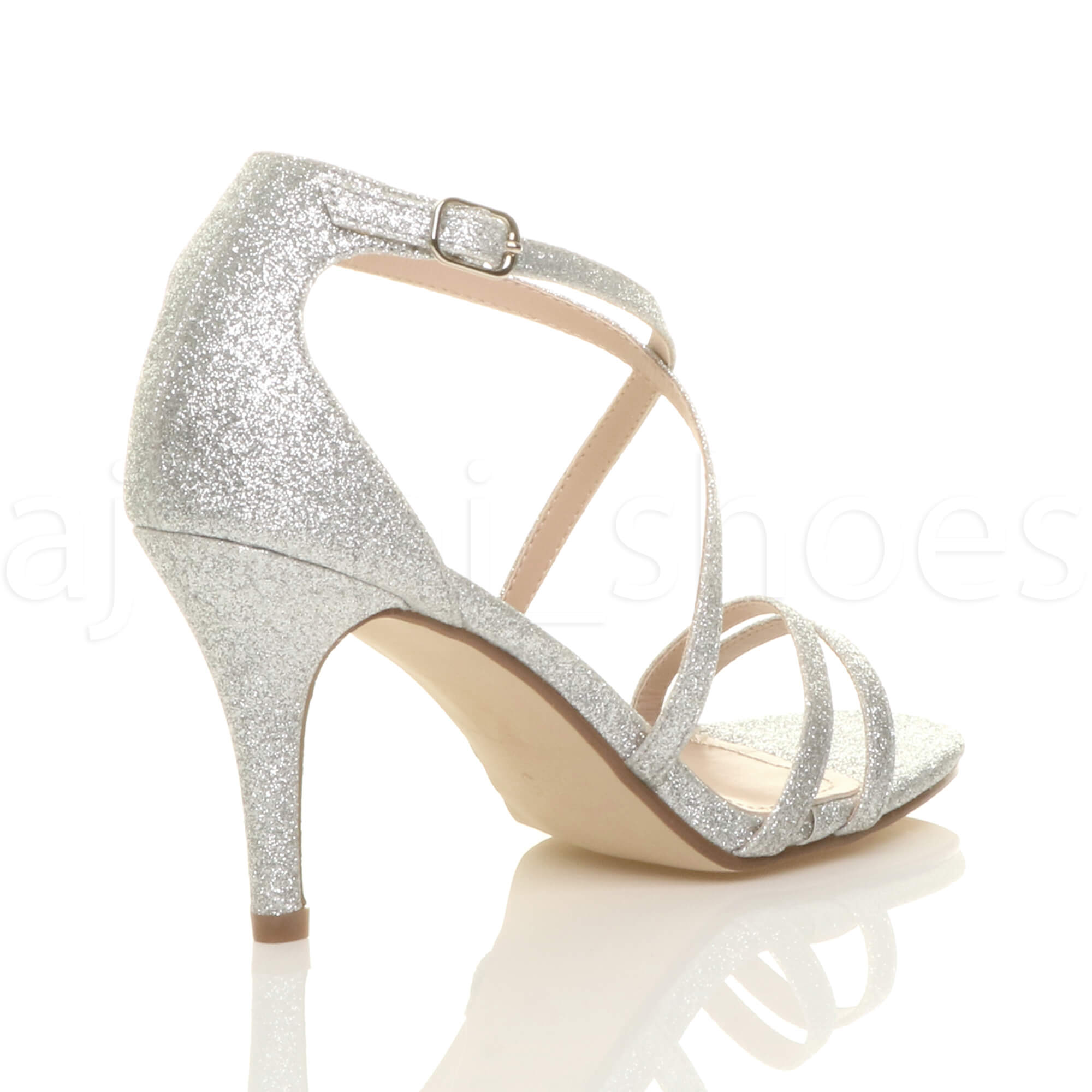 WOMENS-LADIES-MID-HIGH-HEEL-STRAPPY-CROSSOVER-WEDDING-PROM-SANDALS-SHOES-SIZE thumbnail 145
