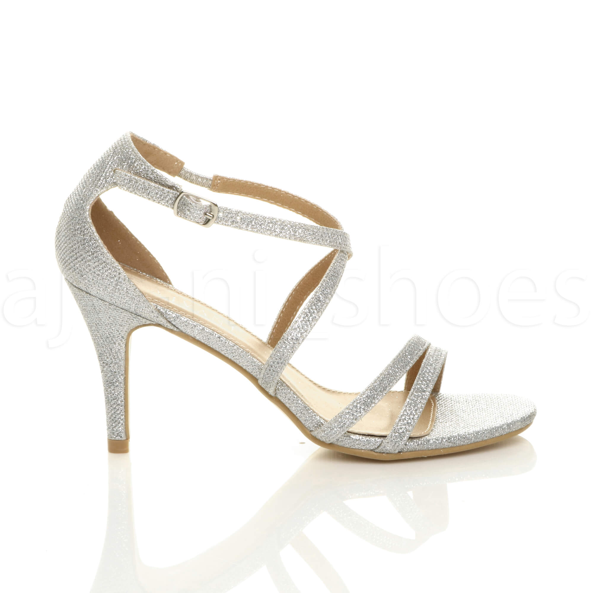 WOMENS-LADIES-MID-HIGH-HEEL-STRAPPY-CROSSOVER-WEDDING-PROM-SANDALS-SHOES-SIZE thumbnail 178