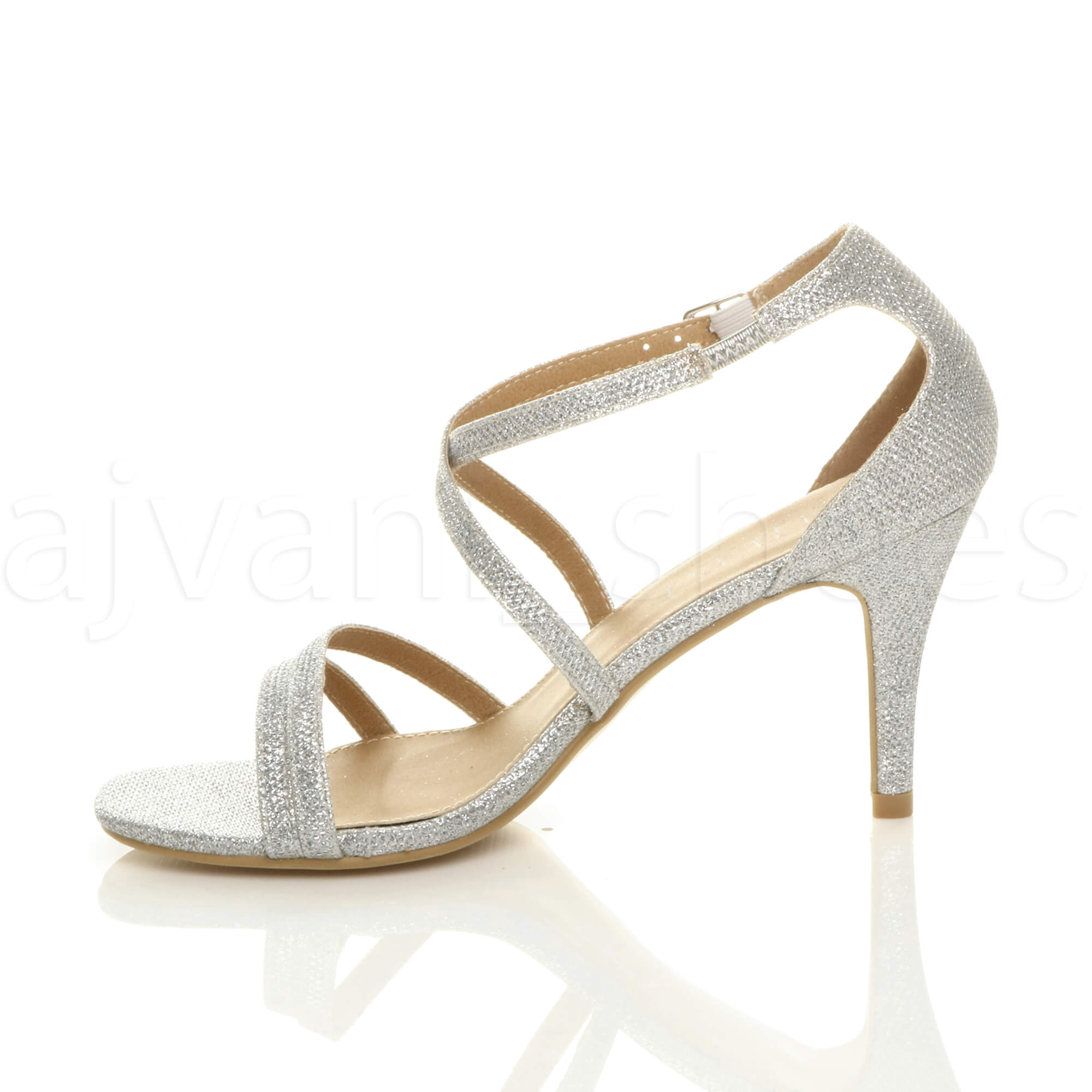WOMENS-LADIES-MID-HIGH-HEEL-STRAPPY-CROSSOVER-WEDDING-PROM-SANDALS-SHOES-SIZE thumbnail 179