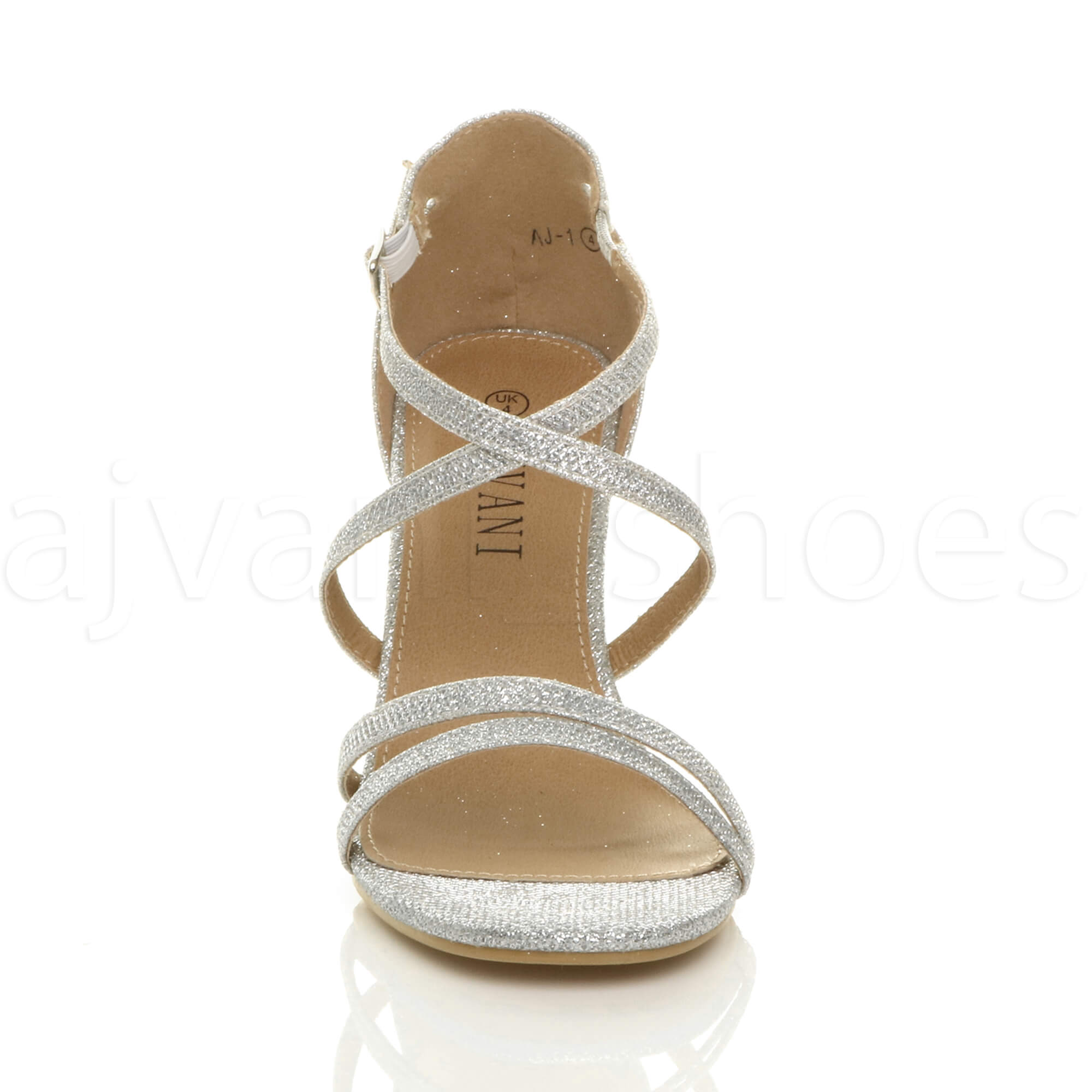 WOMENS-LADIES-MID-HIGH-HEEL-STRAPPY-CROSSOVER-WEDDING-PROM-SANDALS-SHOES-SIZE thumbnail 181