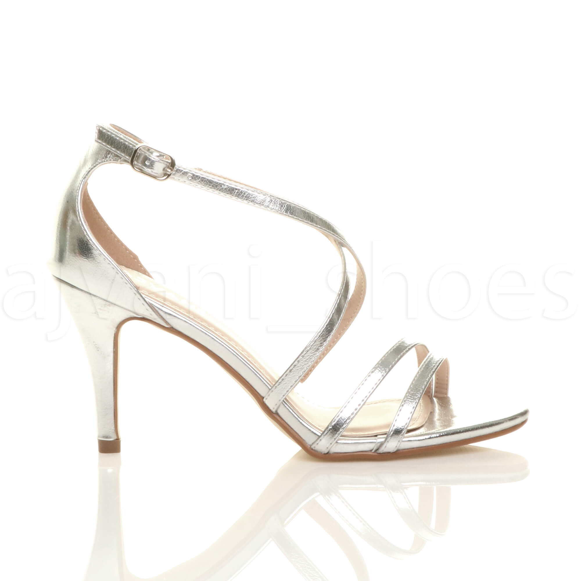 WOMENS-LADIES-MID-HIGH-HEEL-STRAPPY-CROSSOVER-WEDDING-PROM-SANDALS-SHOES-SIZE thumbnail 150