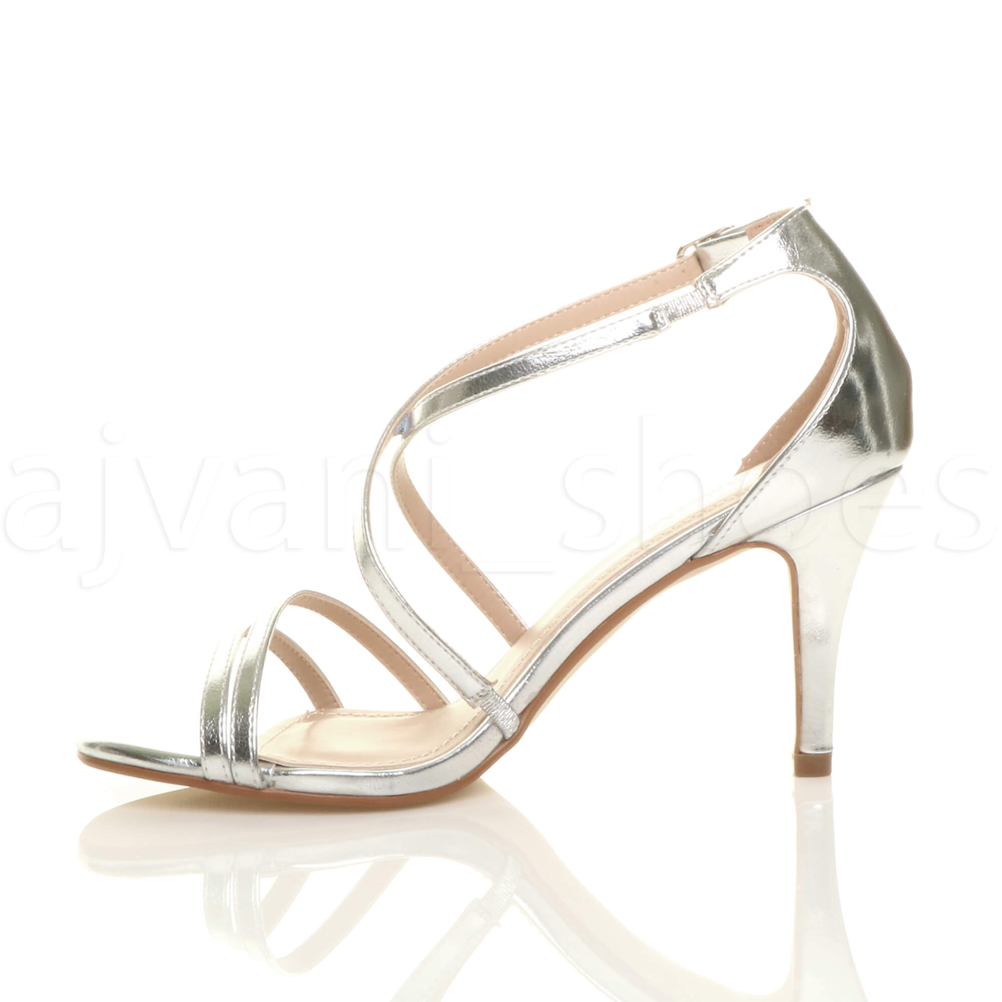 WOMENS-LADIES-MID-HIGH-HEEL-STRAPPY-CROSSOVER-WEDDING-PROM-SANDALS-SHOES-SIZE thumbnail 151