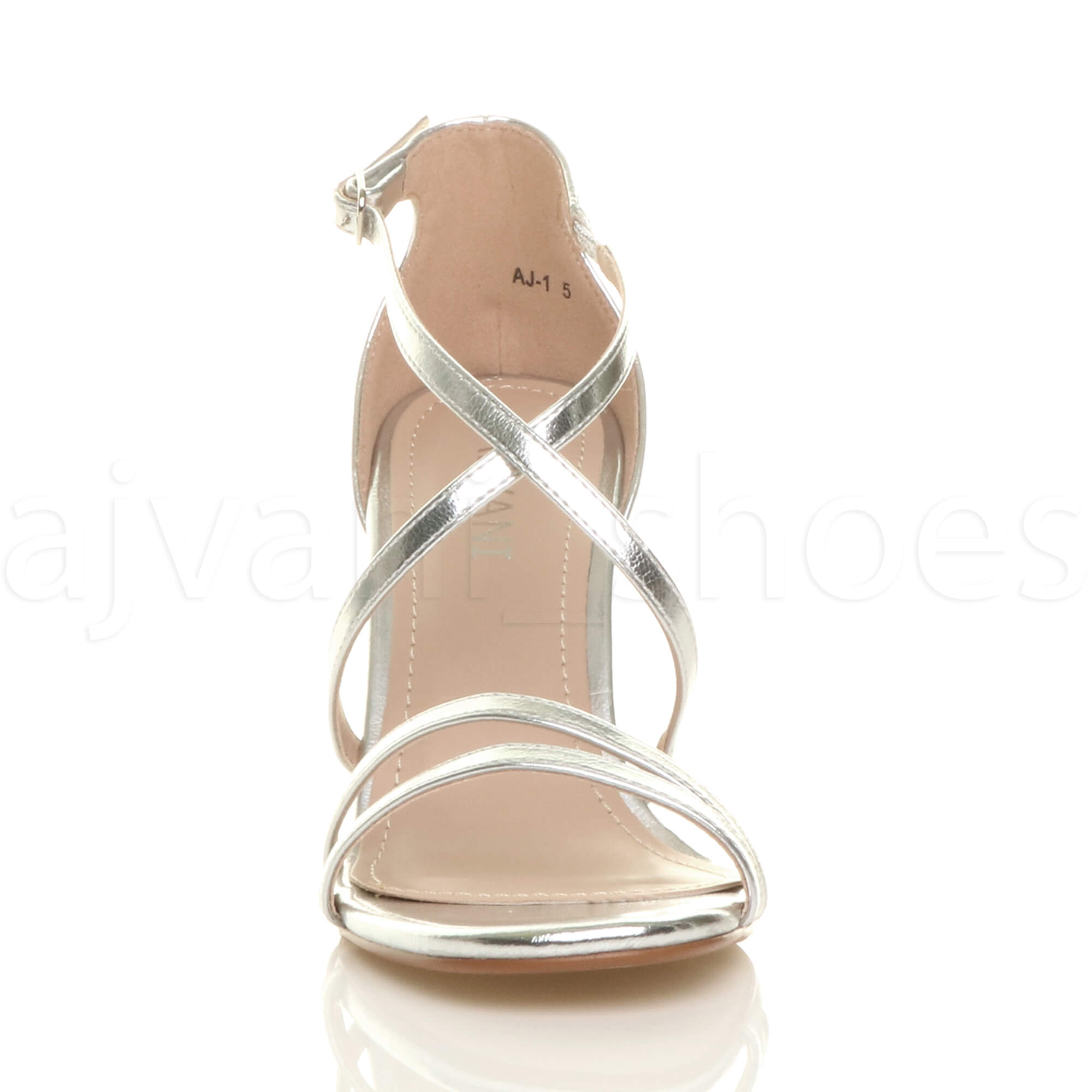 WOMENS-LADIES-MID-HIGH-HEEL-STRAPPY-CROSSOVER-WEDDING-PROM-SANDALS-SHOES-SIZE thumbnail 153