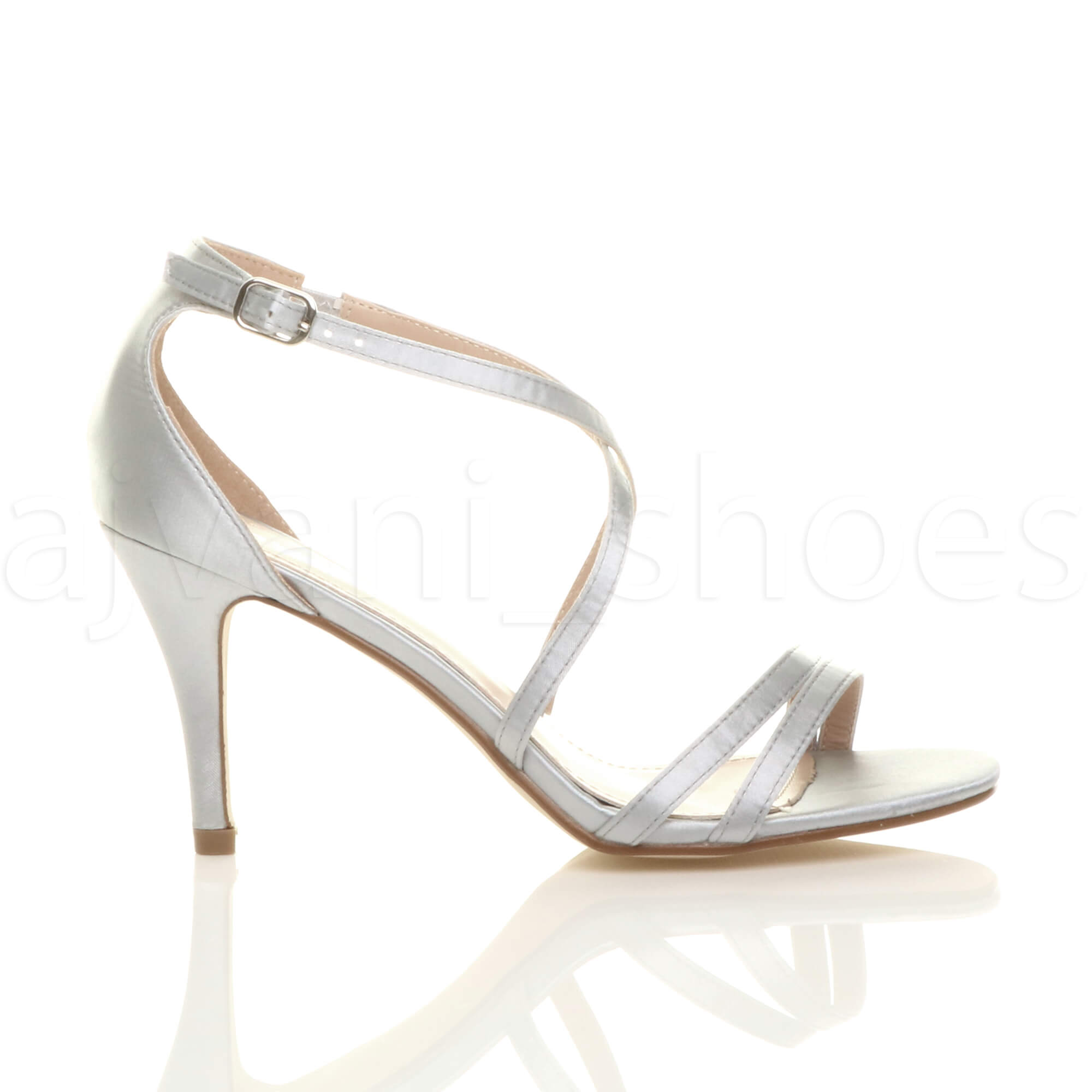 WOMENS-LADIES-MID-HIGH-HEEL-STRAPPY-CROSSOVER-WEDDING-PROM-SANDALS-SHOES-SIZE thumbnail 157