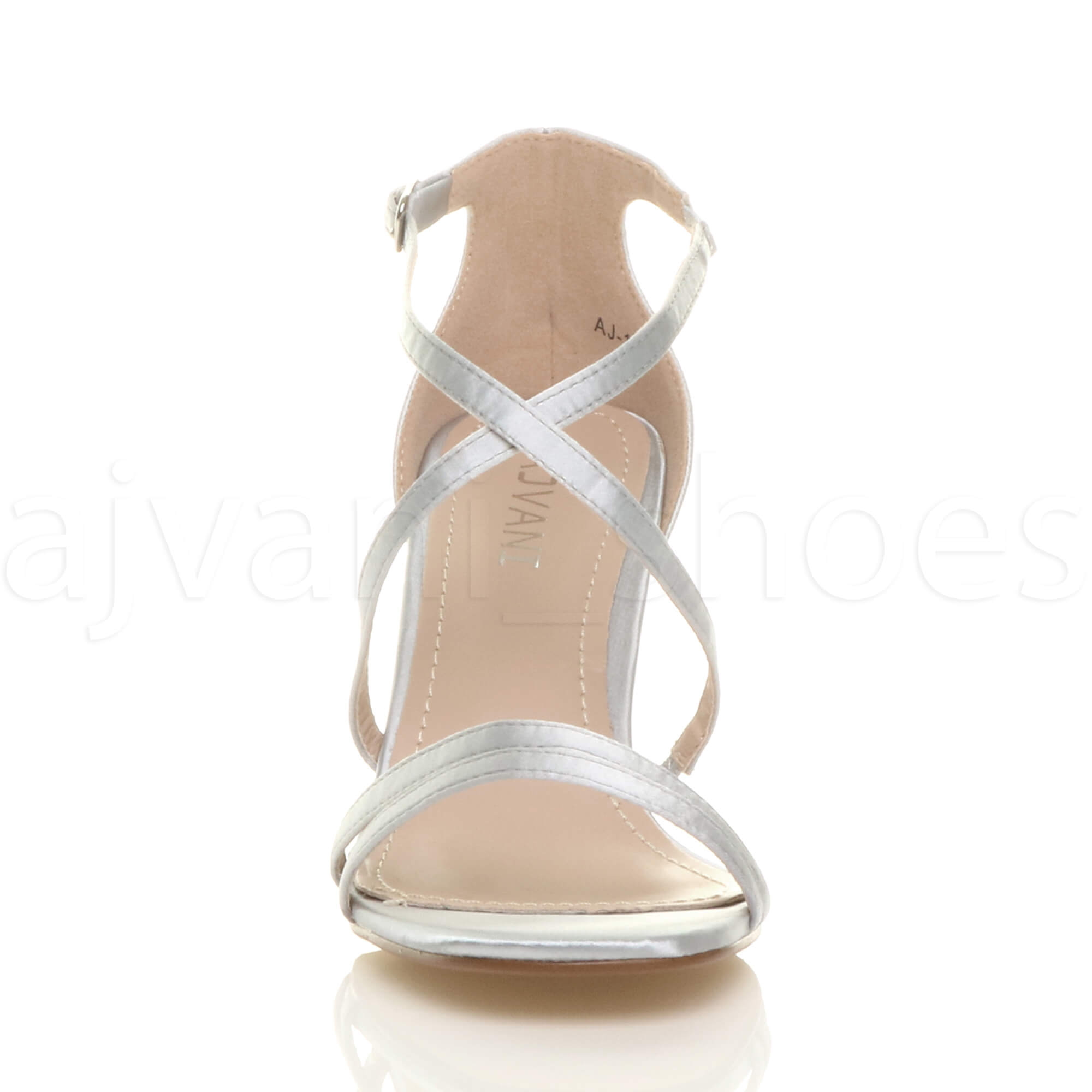 WOMENS-LADIES-MID-HIGH-HEEL-STRAPPY-CROSSOVER-WEDDING-PROM-SANDALS-SHOES-SIZE thumbnail 160