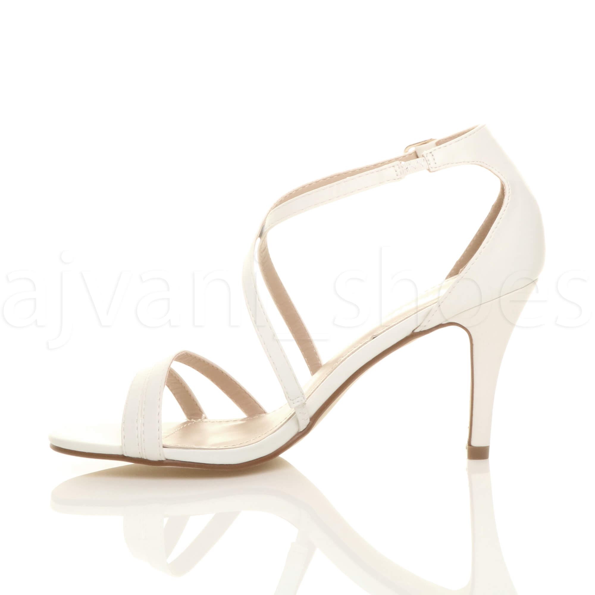 WOMENS-LADIES-MID-HIGH-HEEL-STRAPPY-CROSSOVER-WEDDING-PROM-SANDALS-SHOES-SIZE thumbnail 165