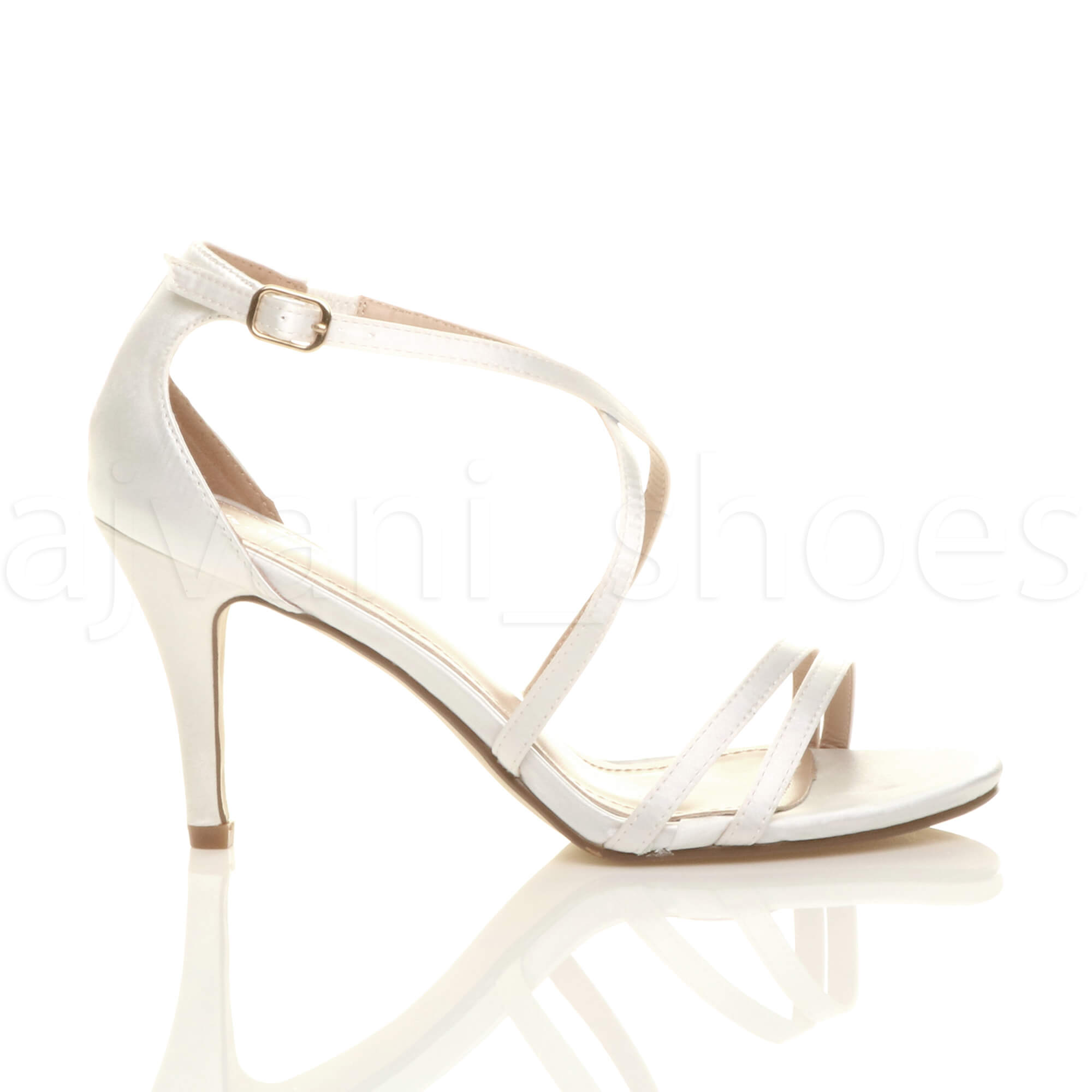 WOMENS-LADIES-MID-HIGH-HEEL-STRAPPY-CROSSOVER-WEDDING-PROM-SANDALS-SHOES-SIZE thumbnail 171