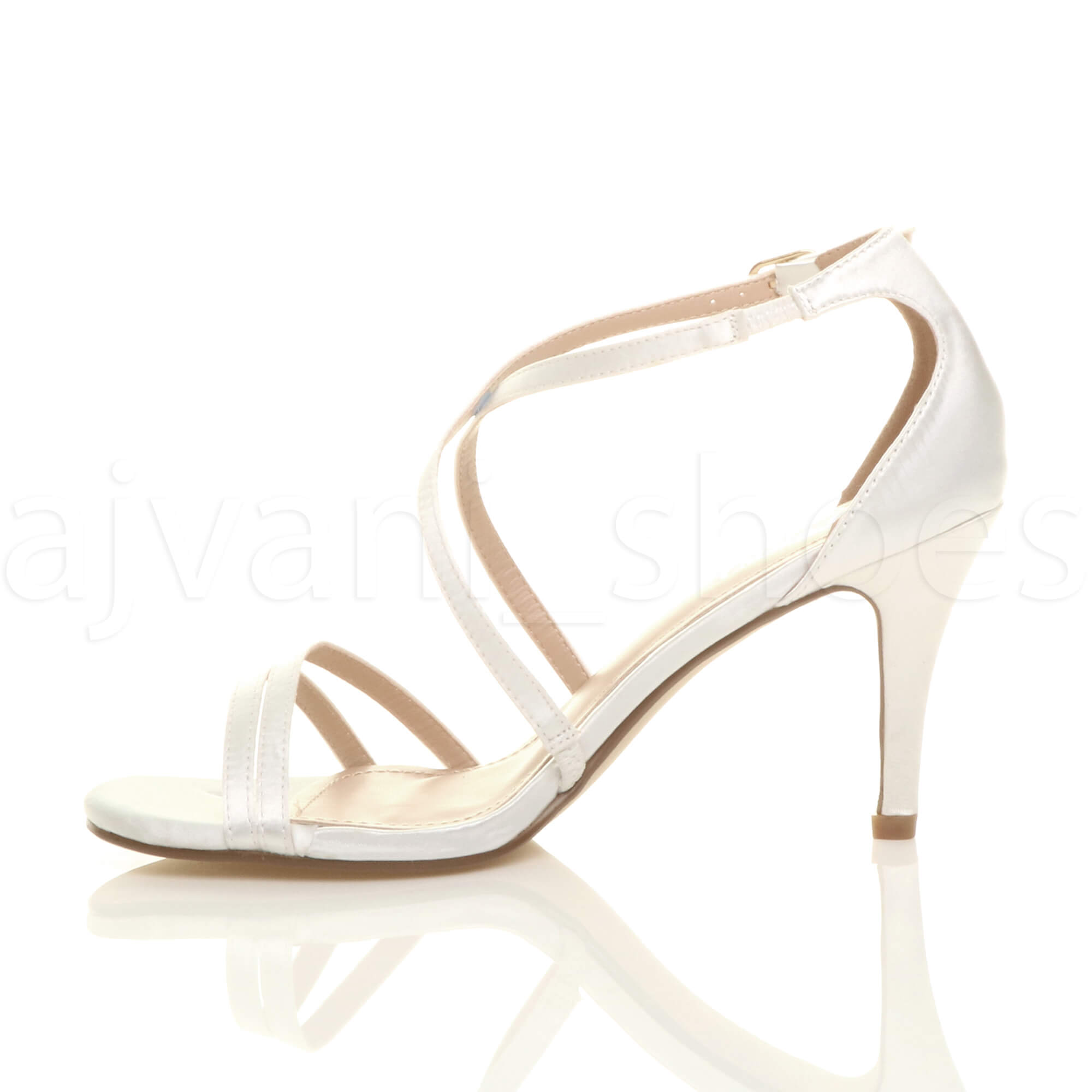 WOMENS-LADIES-MID-HIGH-HEEL-STRAPPY-CROSSOVER-WEDDING-PROM-SANDALS-SHOES-SIZE thumbnail 172