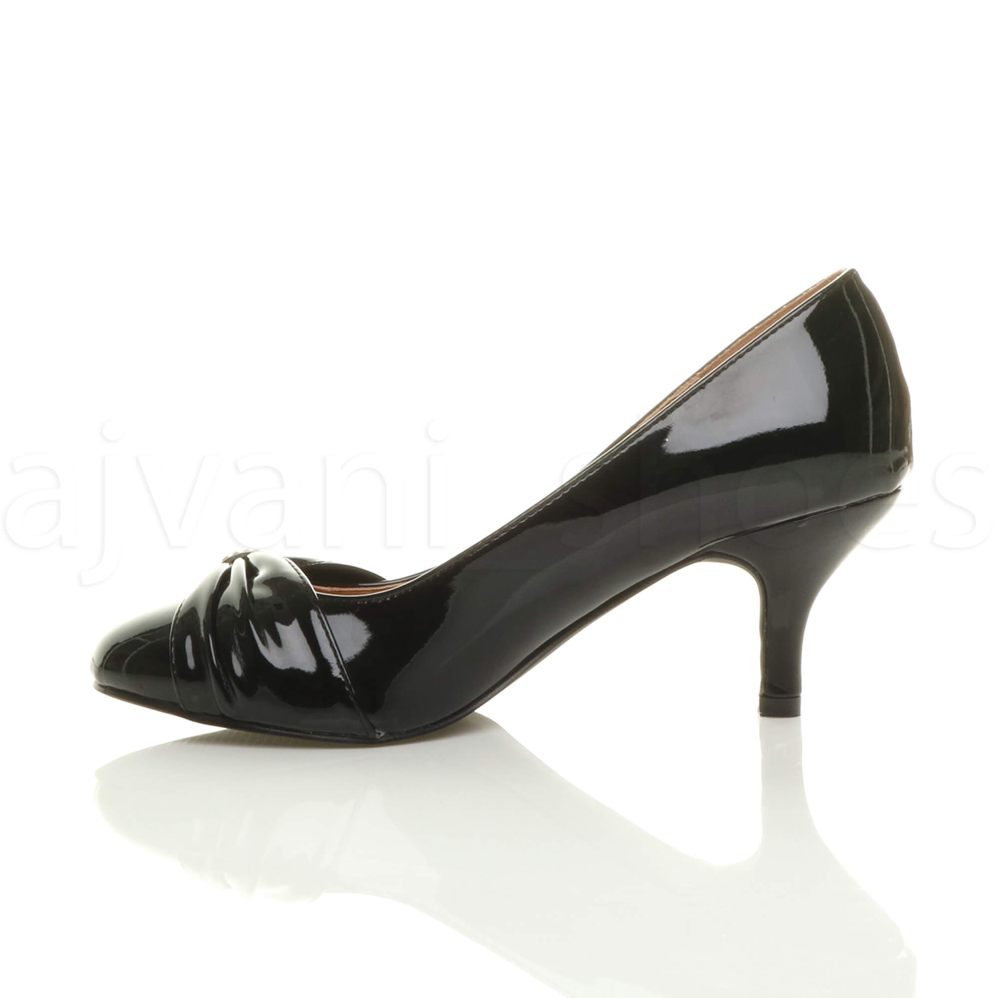 WOMENS-LADIES-MID-HEEL-RUCHED-DIAMANTE-WEDDING-PROM-EVENING-COURT-SHOES-SIZE thumbnail 12