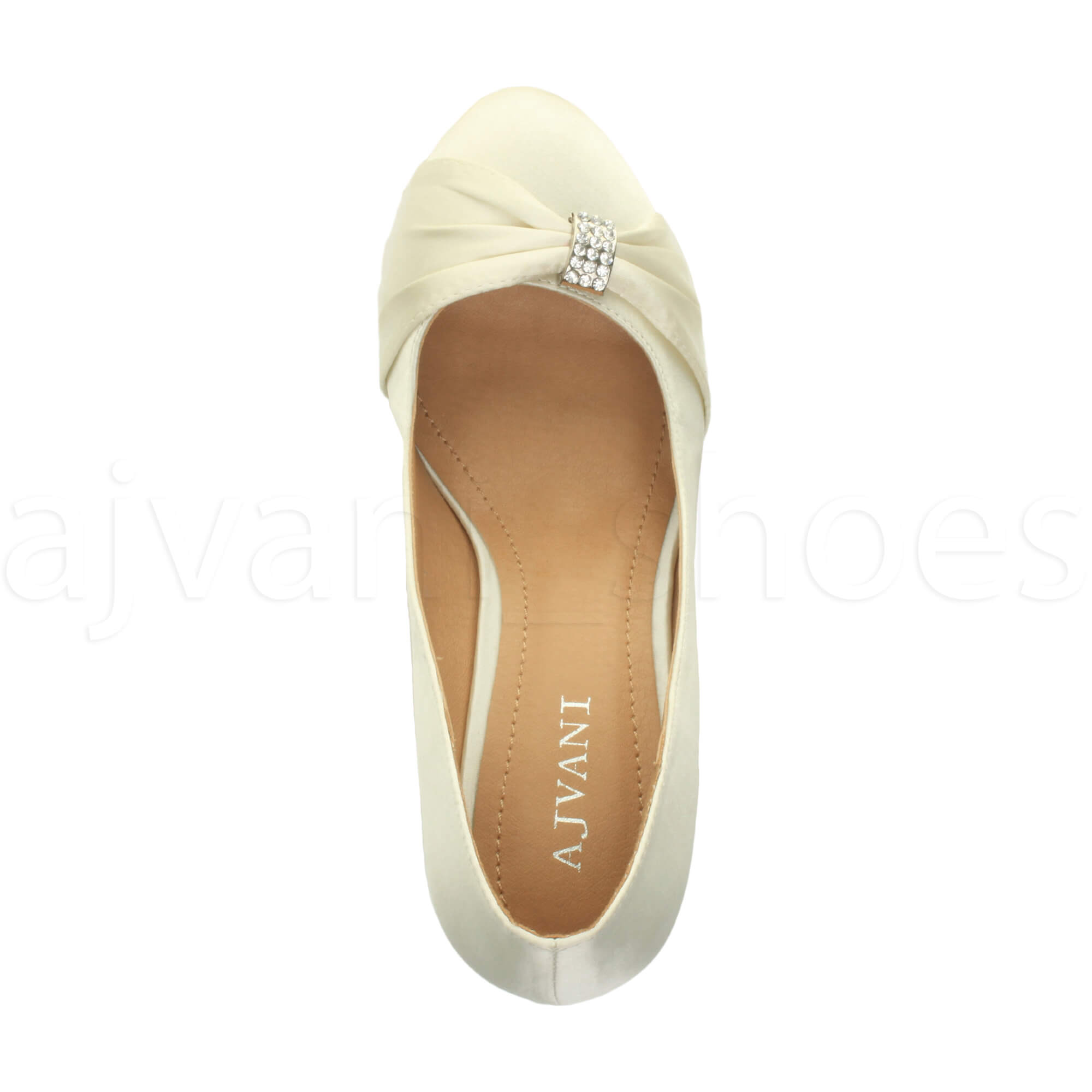 WOMENS-LADIES-MID-HEEL-RUCHED-DIAMANTE-WEDDING-PROM-EVENING-COURT-SHOES-SIZE thumbnail 40