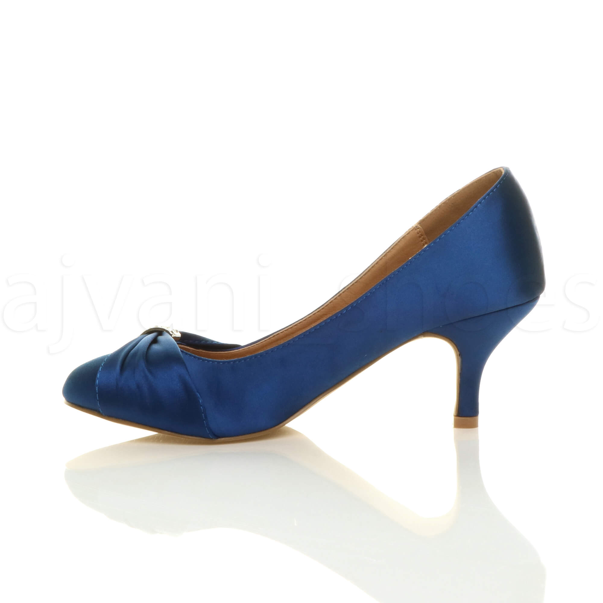 WOMENS-LADIES-MID-HEEL-RUCHED-DIAMANTE-WEDDING-PROM-EVENING-COURT-SHOES-SIZE thumbnail 52