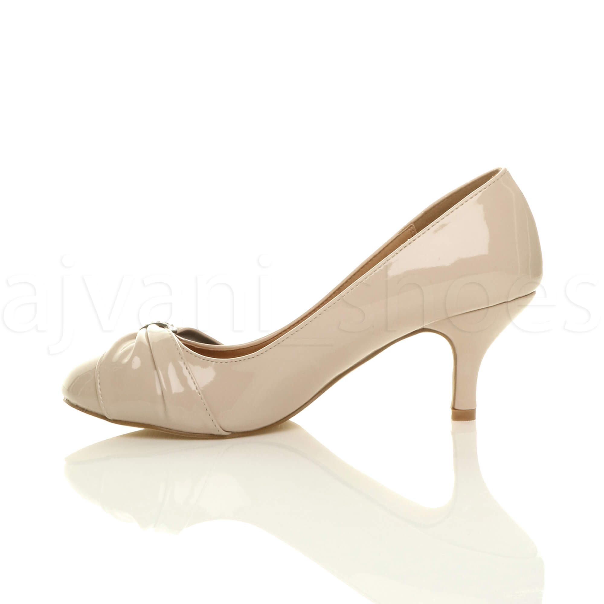 WOMENS-LADIES-MID-HEEL-RUCHED-DIAMANTE-WEDDING-PROM-EVENING-COURT-SHOES-SIZE thumbnail 68