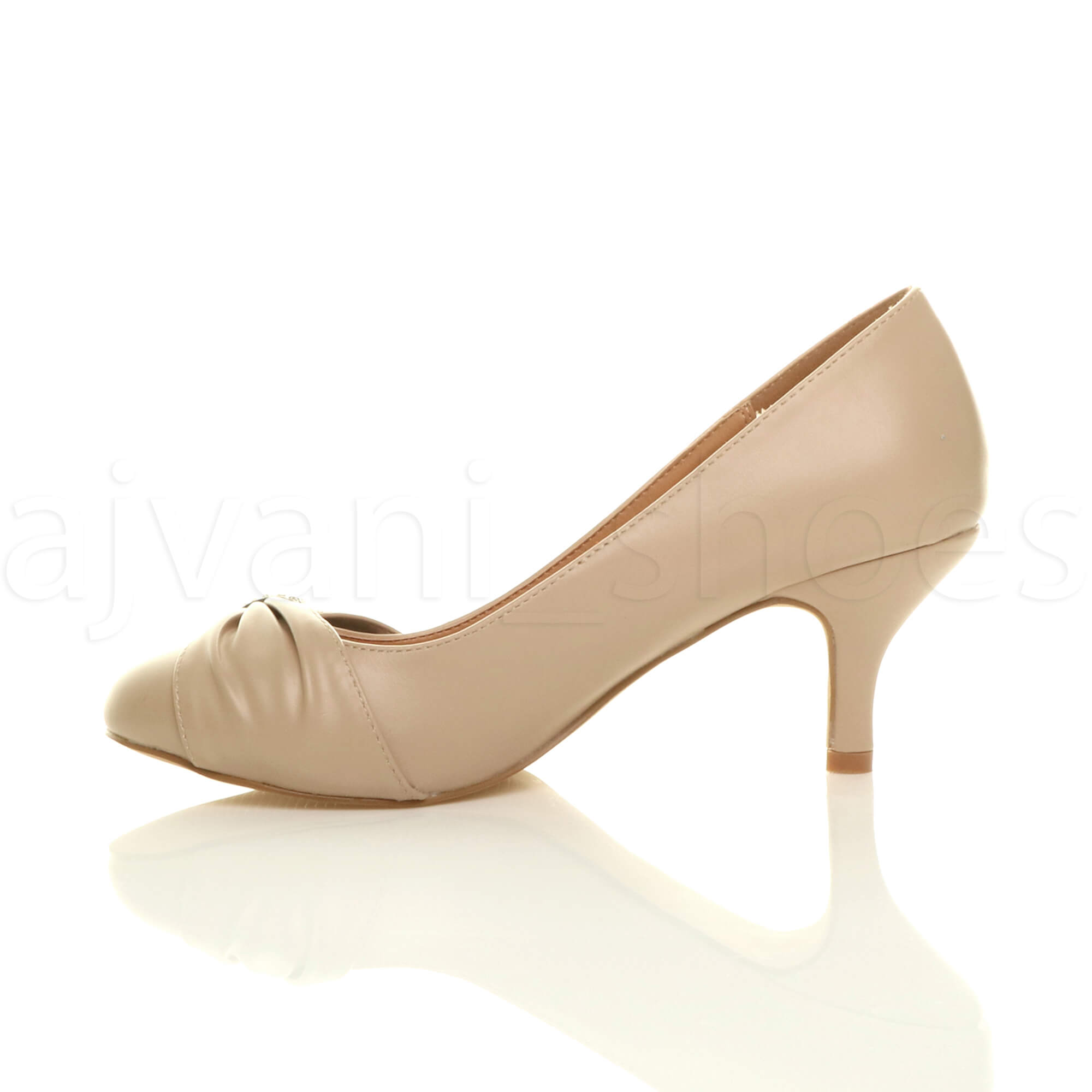 WOMENS-LADIES-MID-HEEL-RUCHED-DIAMANTE-WEDDING-PROM-EVENING-COURT-SHOES-SIZE thumbnail 60