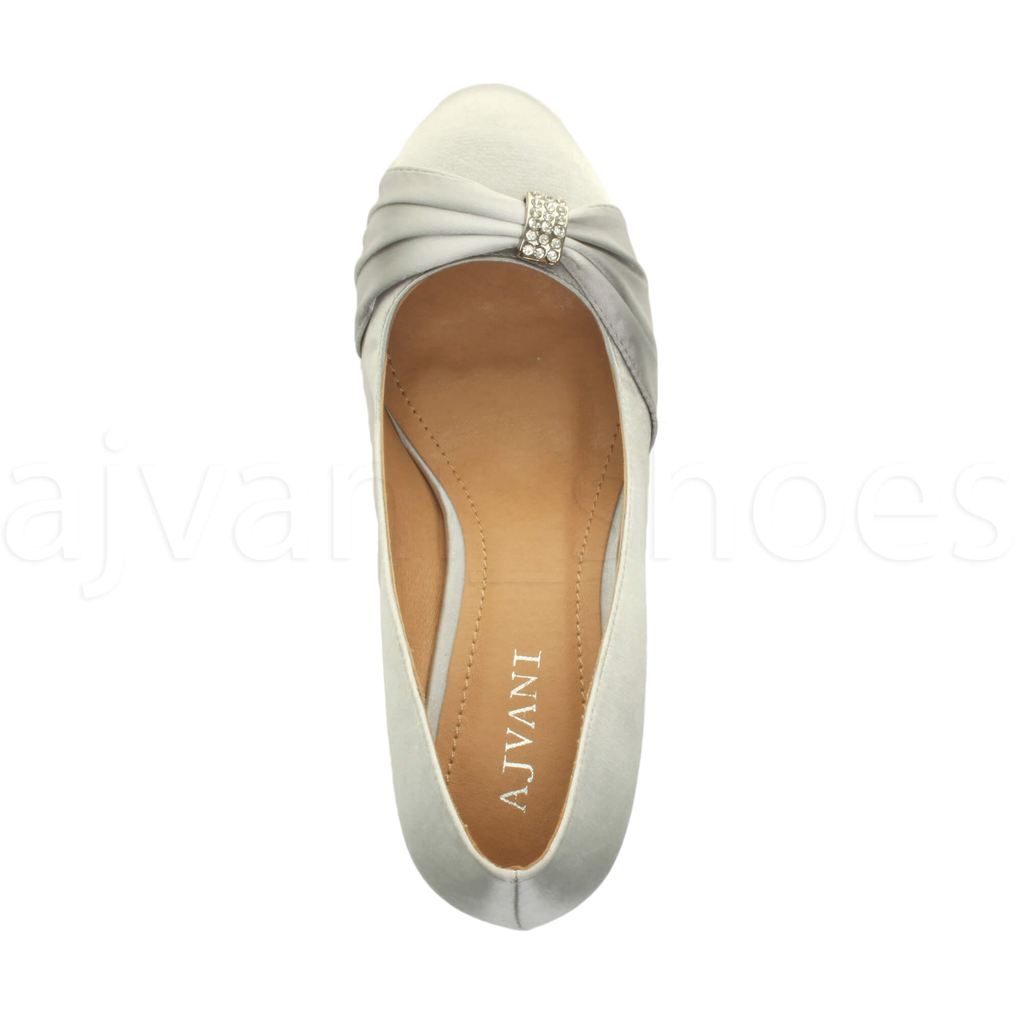 WOMENS-LADIES-MID-HEEL-RUCHED-DIAMANTE-WEDDING-PROM-EVENING-COURT-SHOES-SIZE thumbnail 96