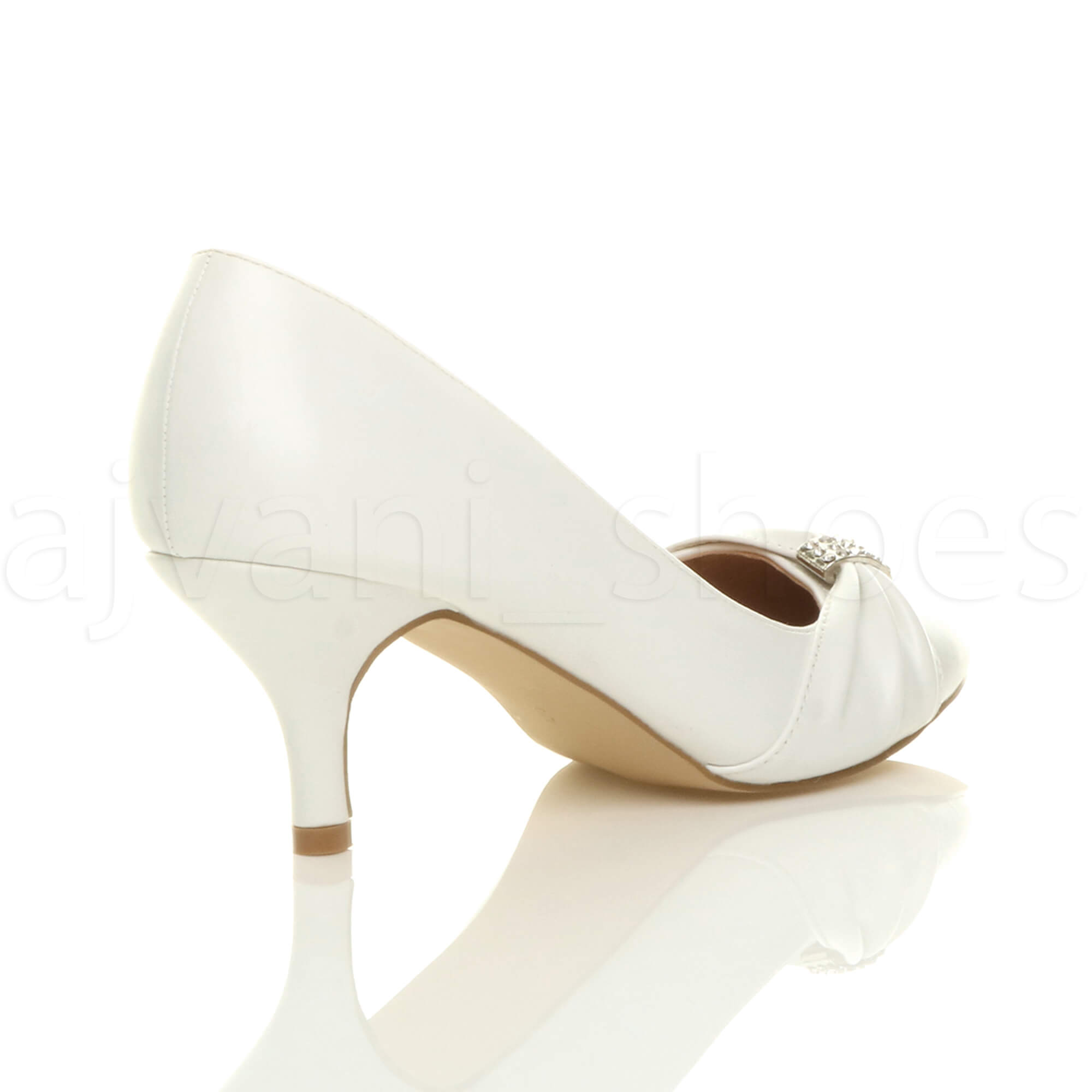 WOMENS-LADIES-MID-HEEL-RUCHED-DIAMANTE-WEDDING-PROM-EVENING-COURT-SHOES-SIZE thumbnail 101