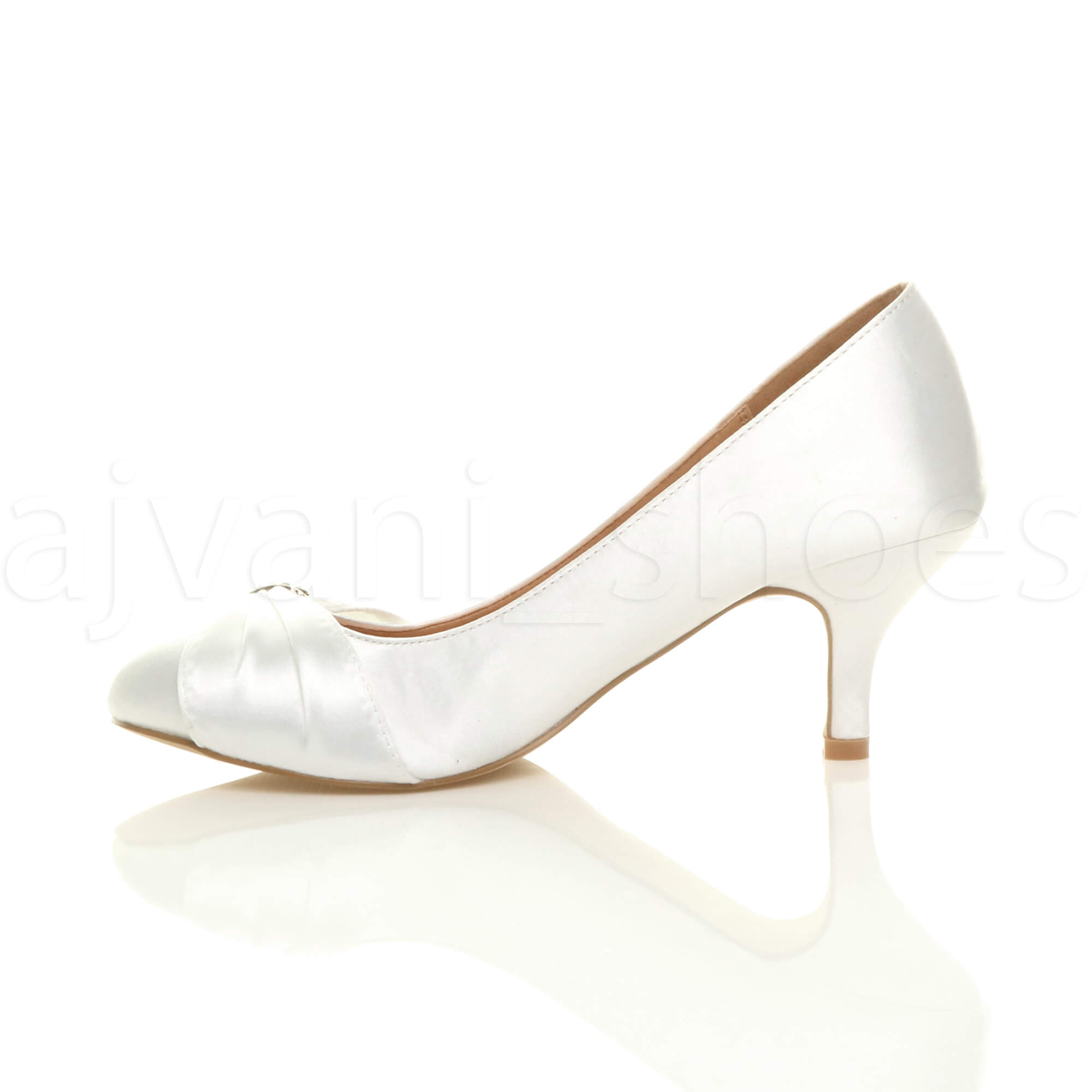 WOMENS-LADIES-MID-HEEL-RUCHED-DIAMANTE-WEDDING-PROM-EVENING-COURT-SHOES-SIZE thumbnail 108