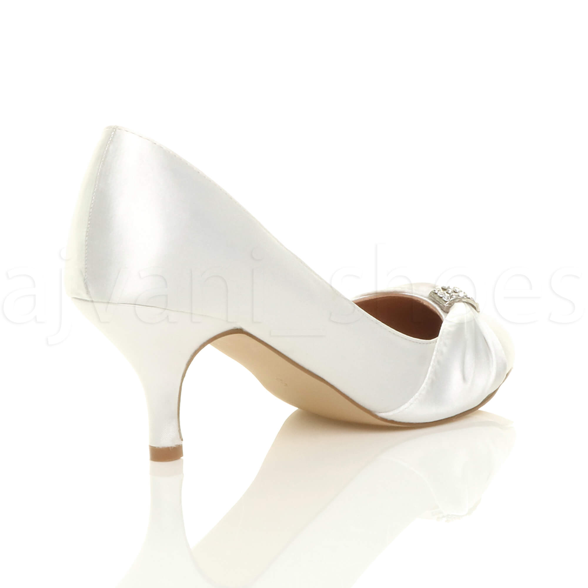 WOMENS-LADIES-MID-HEEL-RUCHED-DIAMANTE-WEDDING-PROM-EVENING-COURT-SHOES-SIZE thumbnail 109