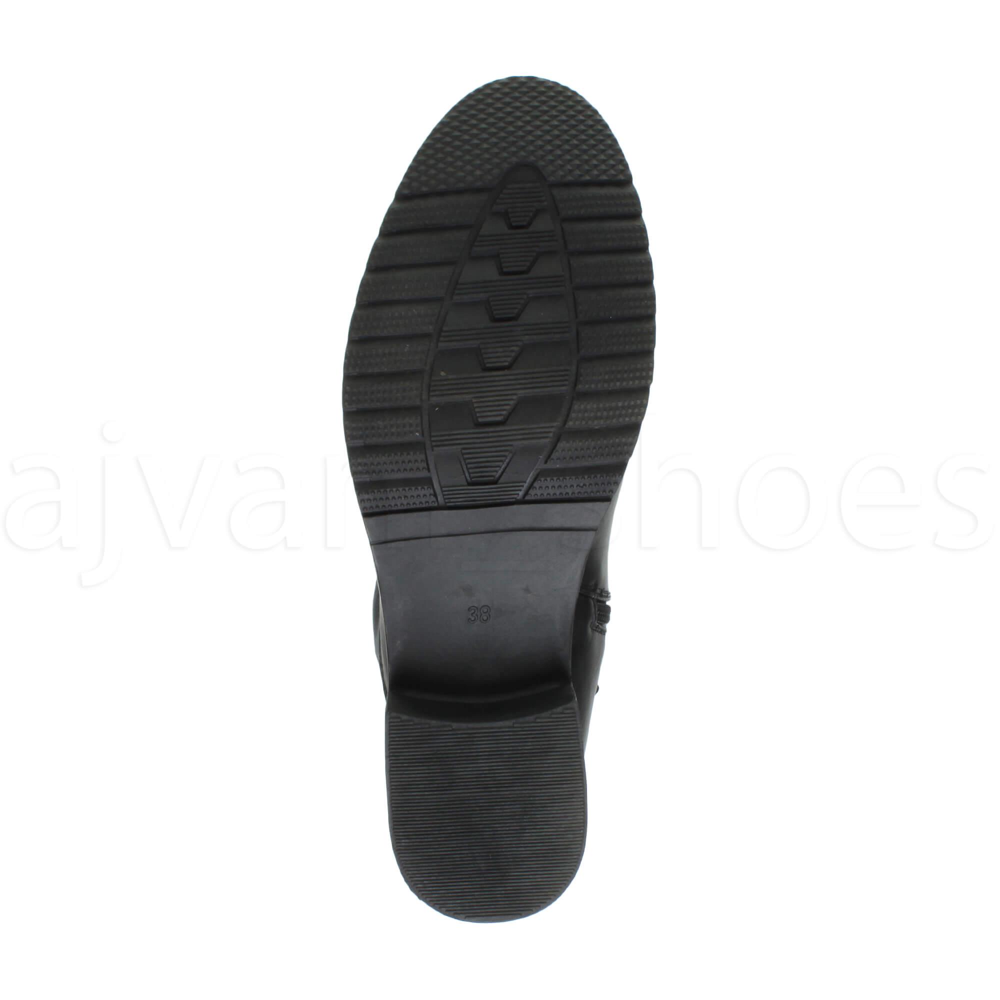 Femmes talon bas plat élastique bottes au-dessus du genou cuissardes pointure