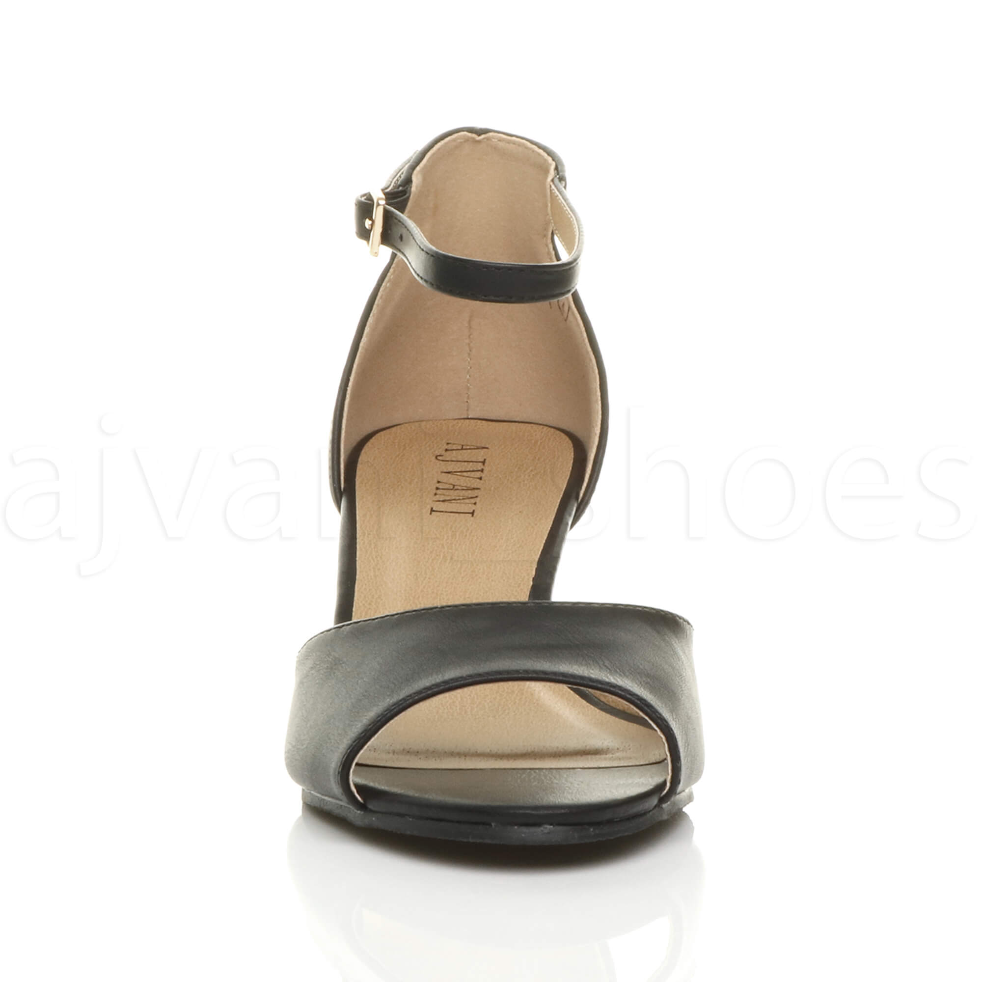 WOMENS-LADIES-LOW-MID-WEDGE-HEEL-ANKLE-STRAP-SMART-CASUAL-EVENING-SANDALS-SIZE thumbnail 7