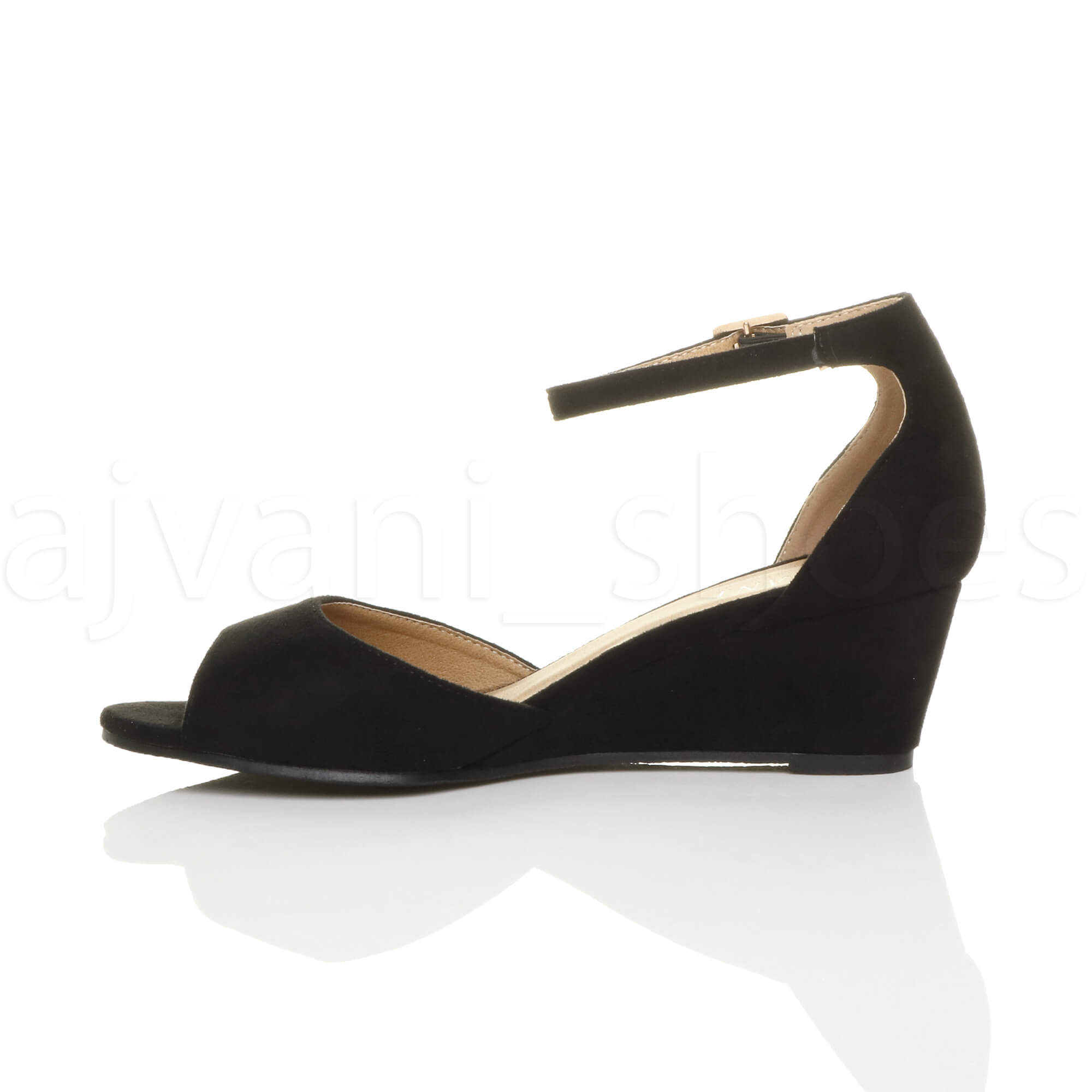 WOMENS-LADIES-LOW-MID-WEDGE-HEEL-ANKLE-STRAP-SMART-CASUAL-EVENING-SANDALS-SIZE thumbnail 20