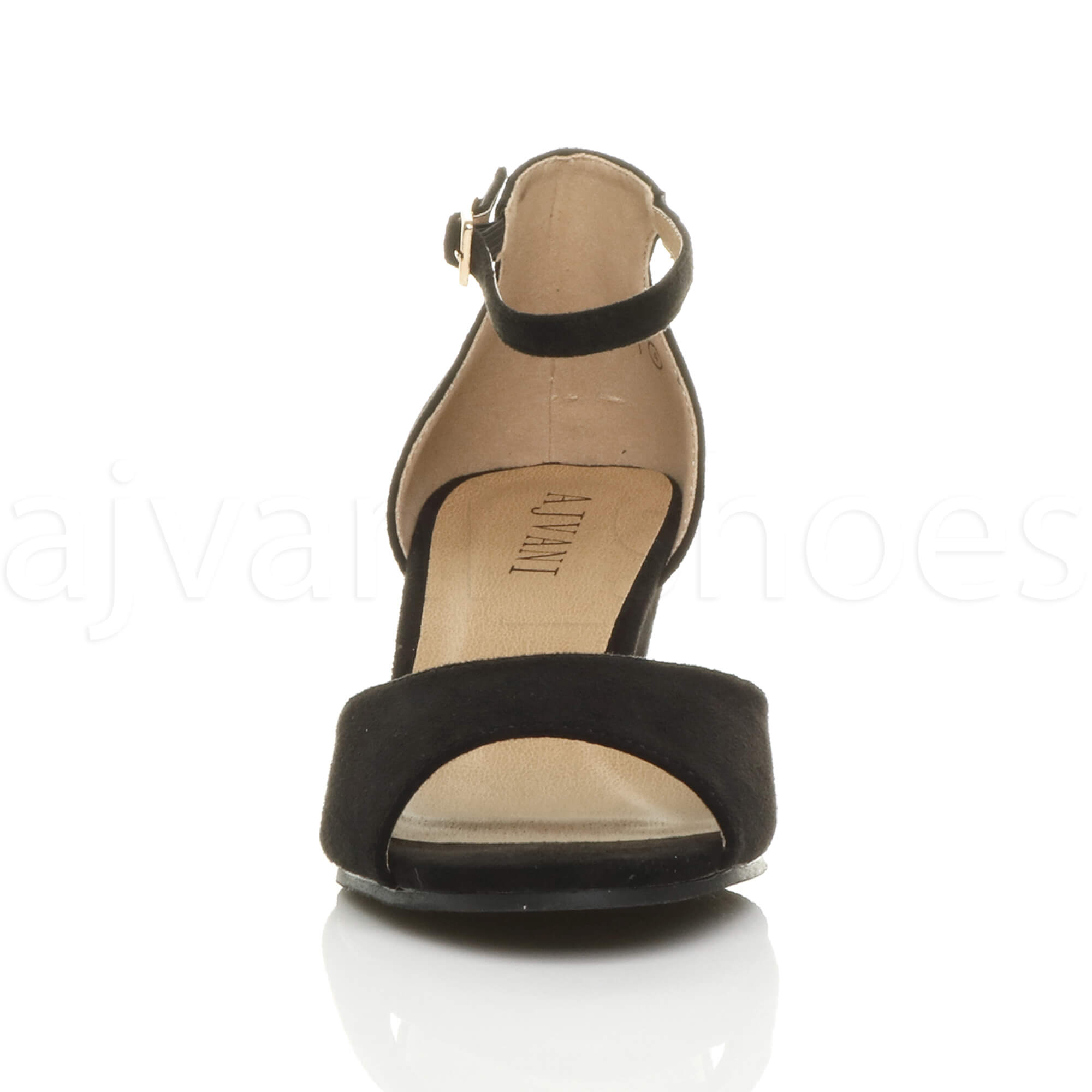 WOMENS-LADIES-LOW-MID-WEDGE-HEEL-ANKLE-STRAP-SMART-CASUAL-EVENING-SANDALS-SIZE thumbnail 23