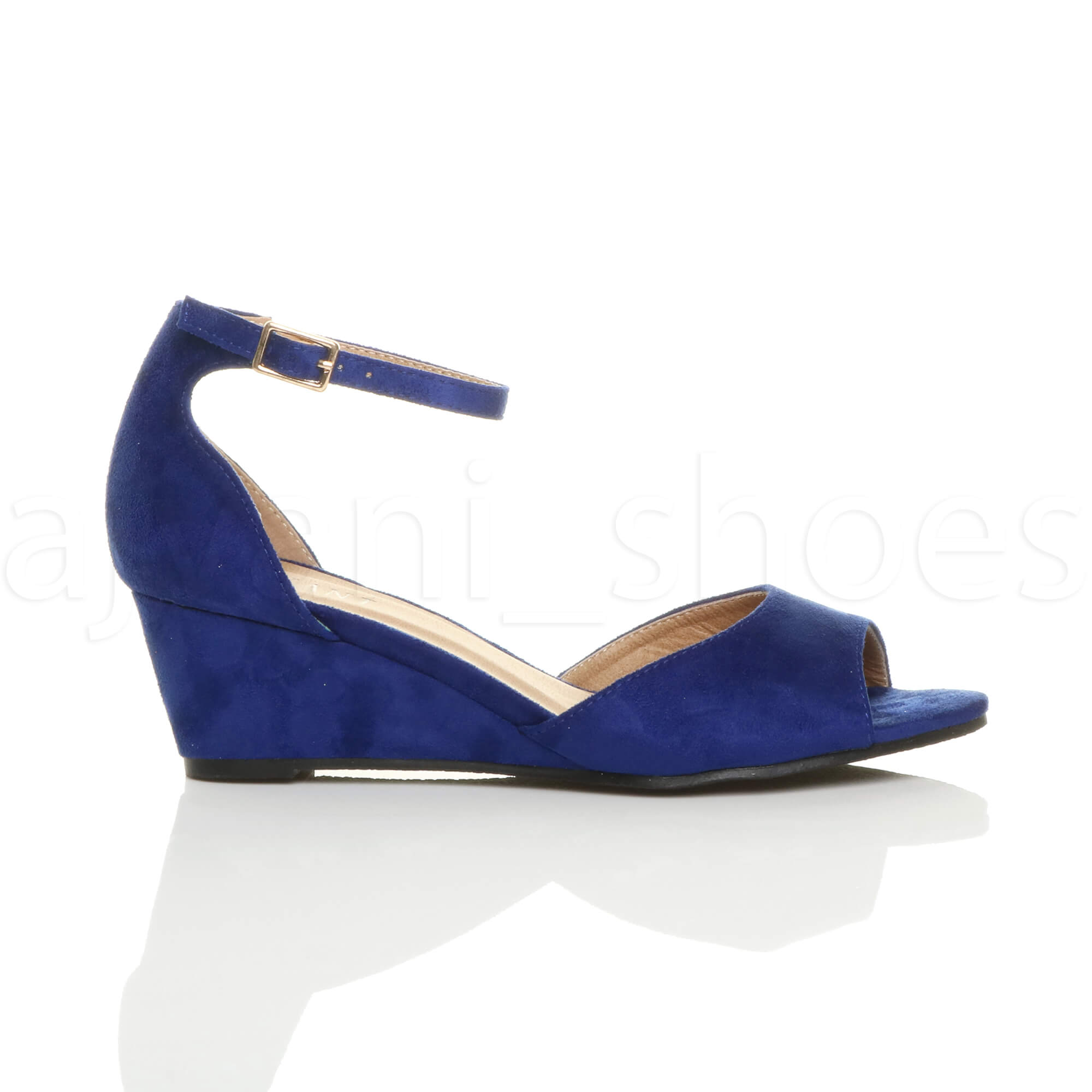 WOMENS-LADIES-LOW-MID-WEDGE-HEEL-ANKLE-STRAP-SMART-CASUAL-EVENING-SANDALS-SIZE thumbnail 27