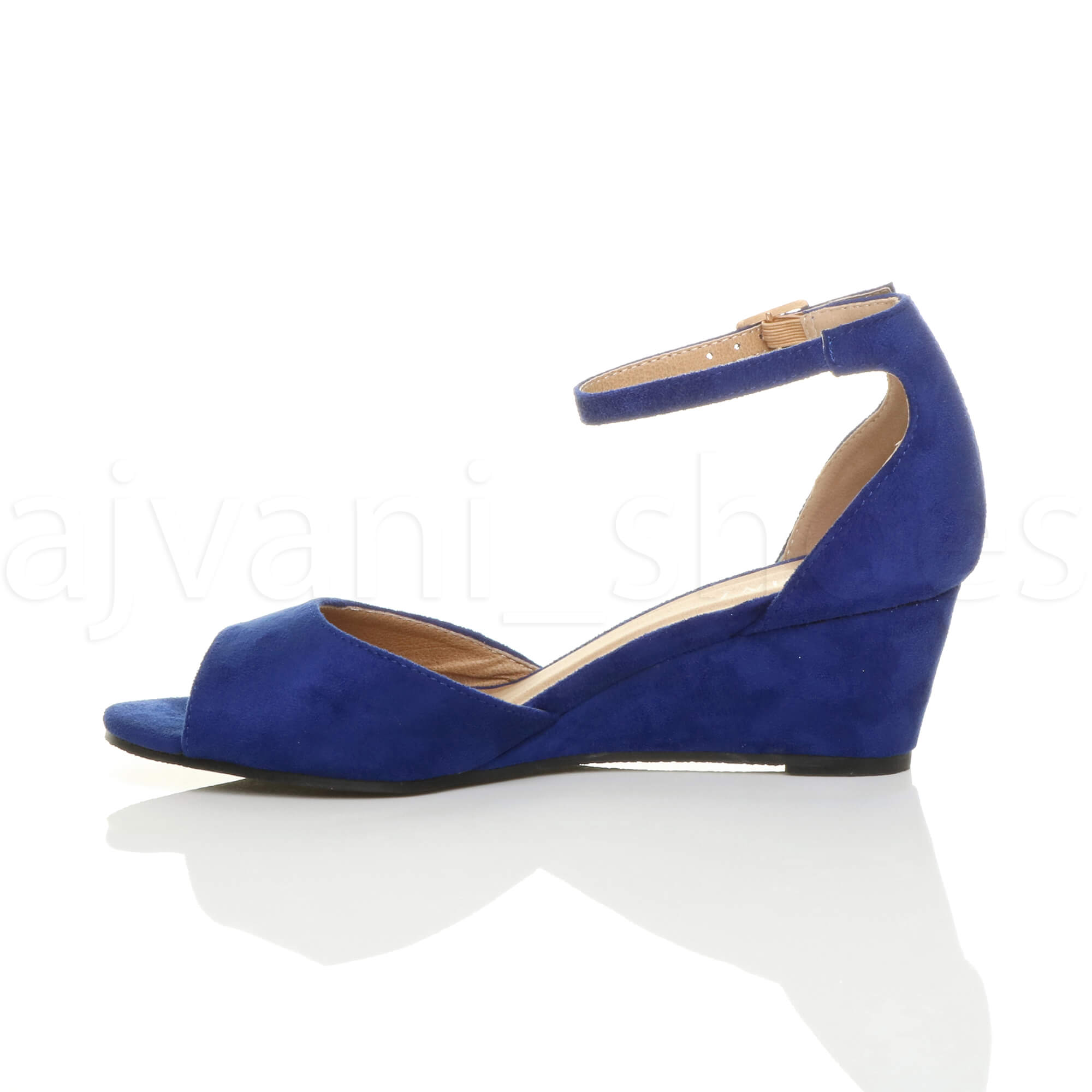 WOMENS-LADIES-LOW-MID-WEDGE-HEEL-ANKLE-STRAP-SMART-CASUAL-EVENING-SANDALS-SIZE thumbnail 28