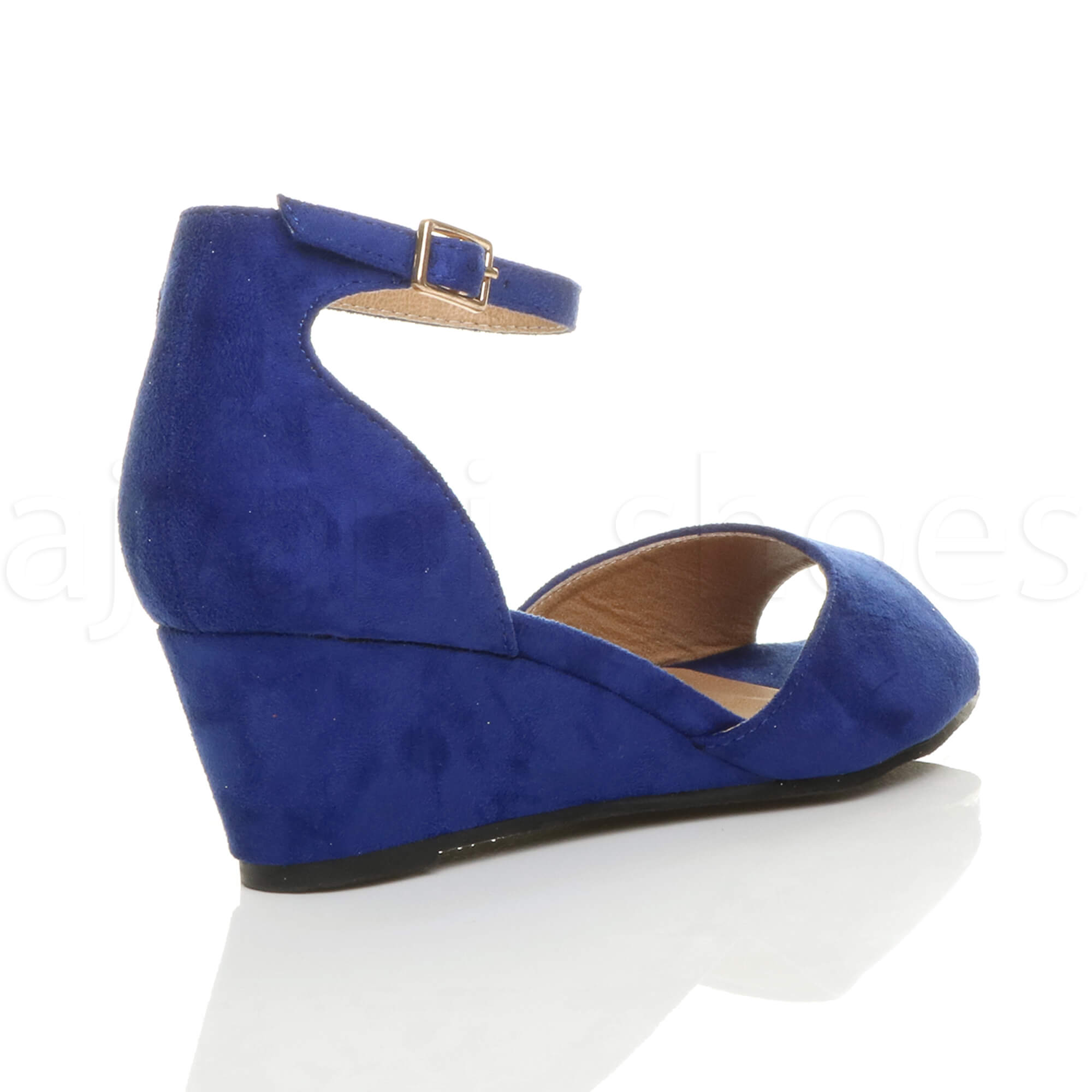 WOMENS-LADIES-LOW-MID-WEDGE-HEEL-ANKLE-STRAP-SMART-CASUAL-EVENING-SANDALS-SIZE thumbnail 29