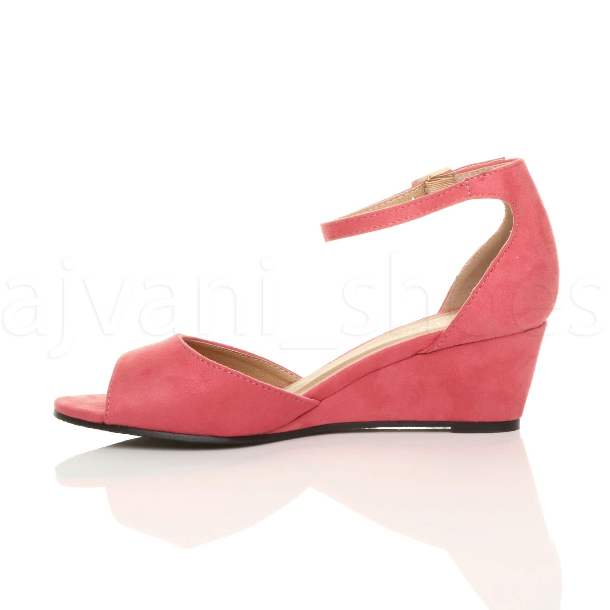 WOMENS-LADIES-LOW-MID-WEDGE-HEEL-ANKLE-STRAP-SMART-CASUAL-EVENING-SANDALS-SIZE thumbnail 36