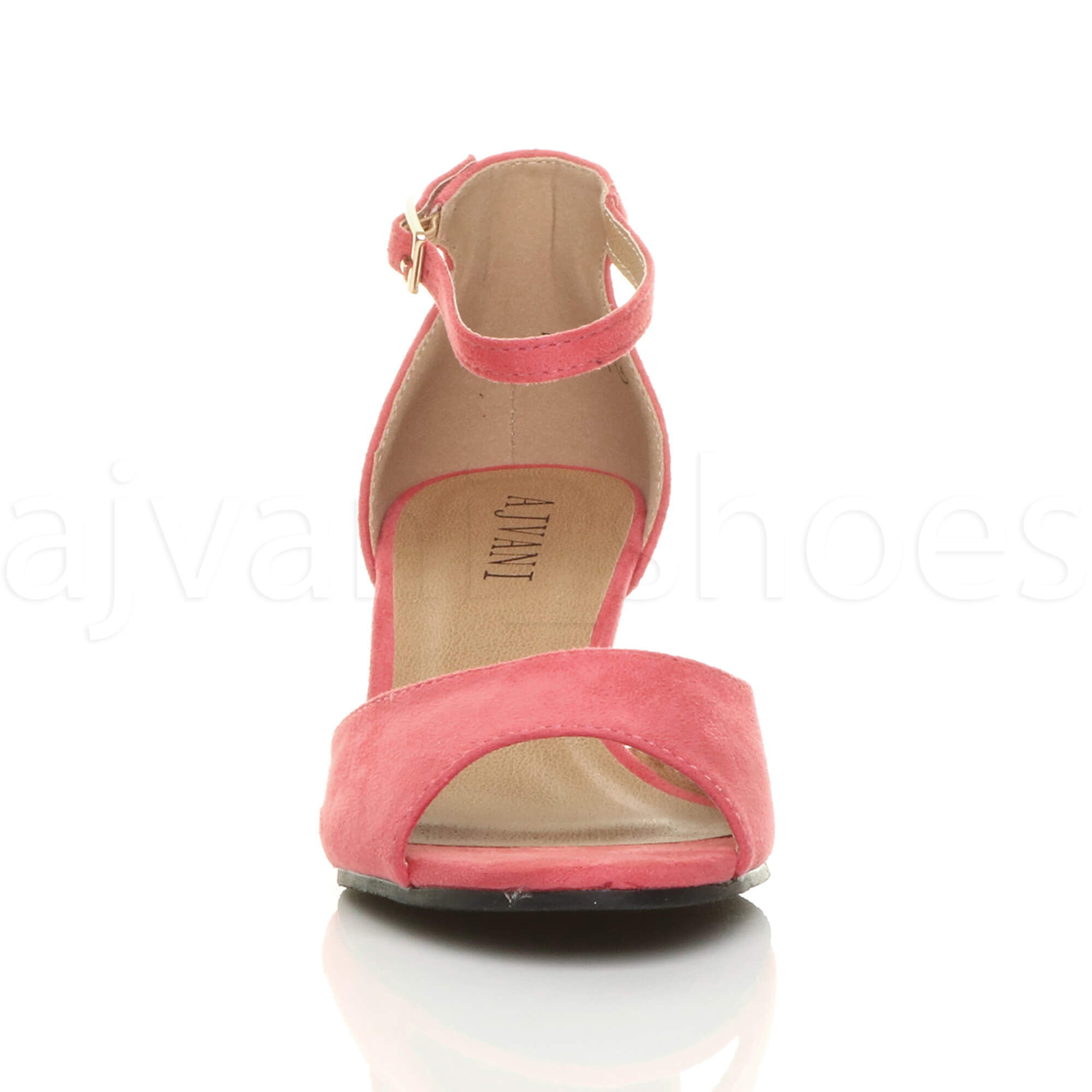 WOMENS-LADIES-LOW-MID-WEDGE-HEEL-ANKLE-STRAP-SMART-CASUAL-EVENING-SANDALS-SIZE thumbnail 39