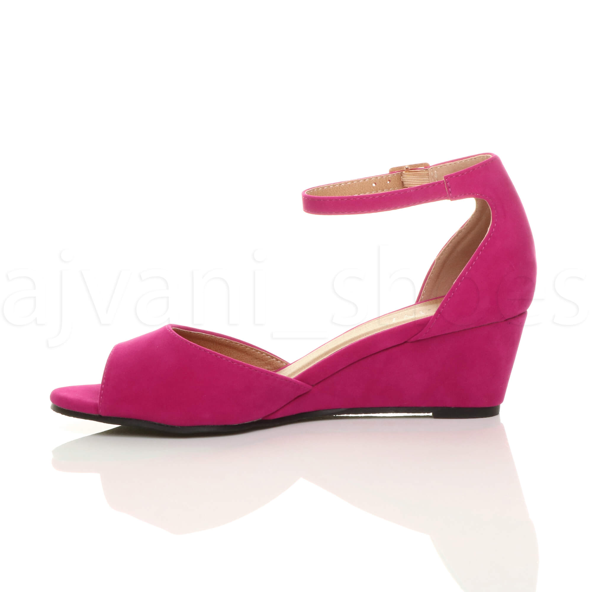 WOMENS-LADIES-LOW-MID-WEDGE-HEEL-ANKLE-STRAP-SMART-CASUAL-EVENING-SANDALS-SIZE thumbnail 44