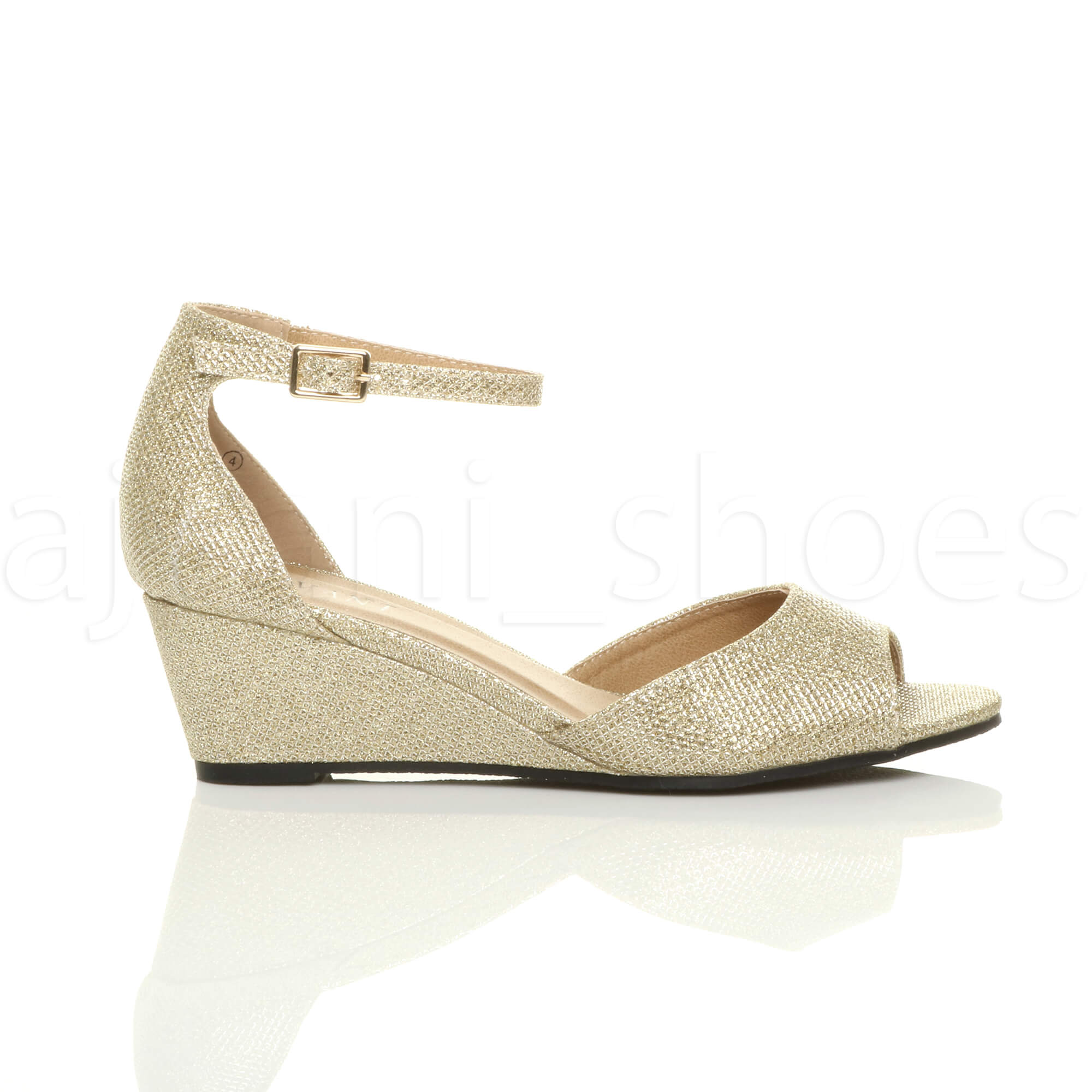 WOMENS-LADIES-LOW-MID-WEDGE-HEEL-ANKLE-STRAP-SMART-CASUAL-EVENING-SANDALS-SIZE thumbnail 51