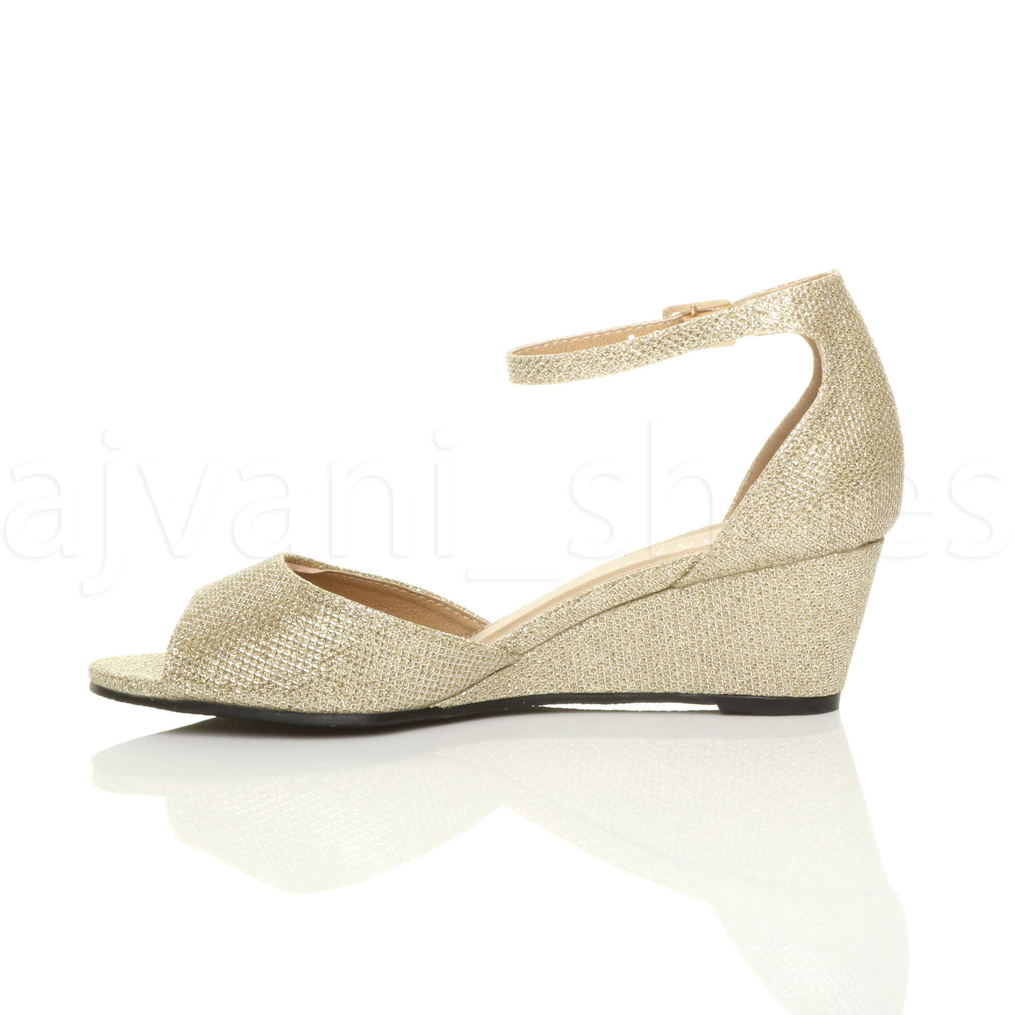 WOMENS-LADIES-LOW-MID-WEDGE-HEEL-ANKLE-STRAP-SMART-CASUAL-EVENING-SANDALS-SIZE thumbnail 52
