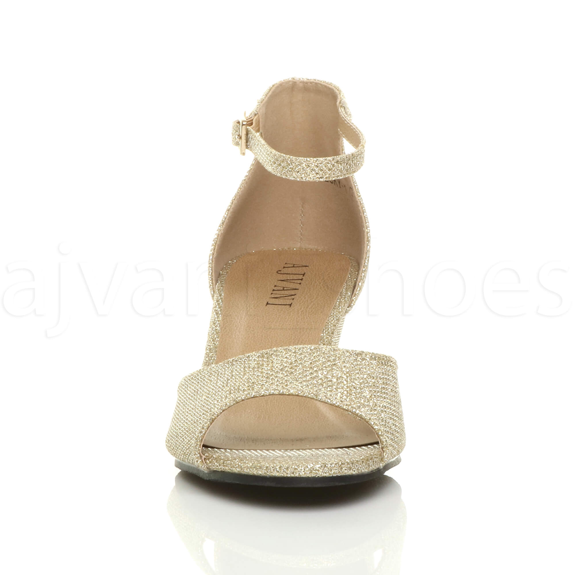 WOMENS-LADIES-LOW-MID-WEDGE-HEEL-ANKLE-STRAP-SMART-CASUAL-EVENING-SANDALS-SIZE thumbnail 55