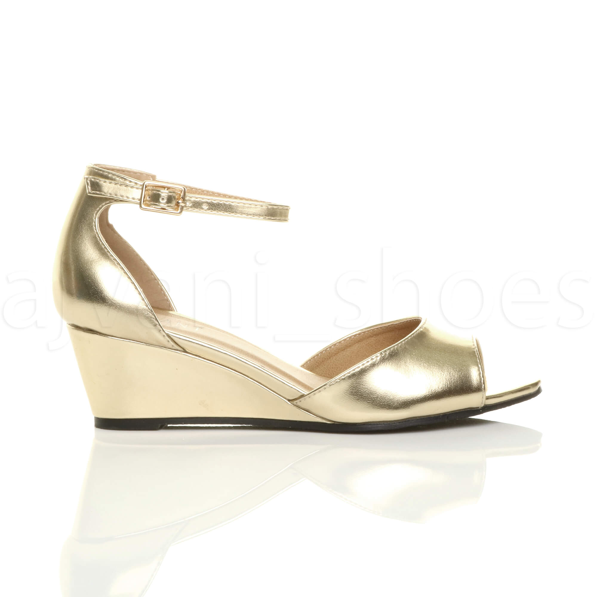 WOMENS-LADIES-LOW-MID-WEDGE-HEEL-ANKLE-STRAP-SMART-CASUAL-EVENING-SANDALS-SIZE thumbnail 59