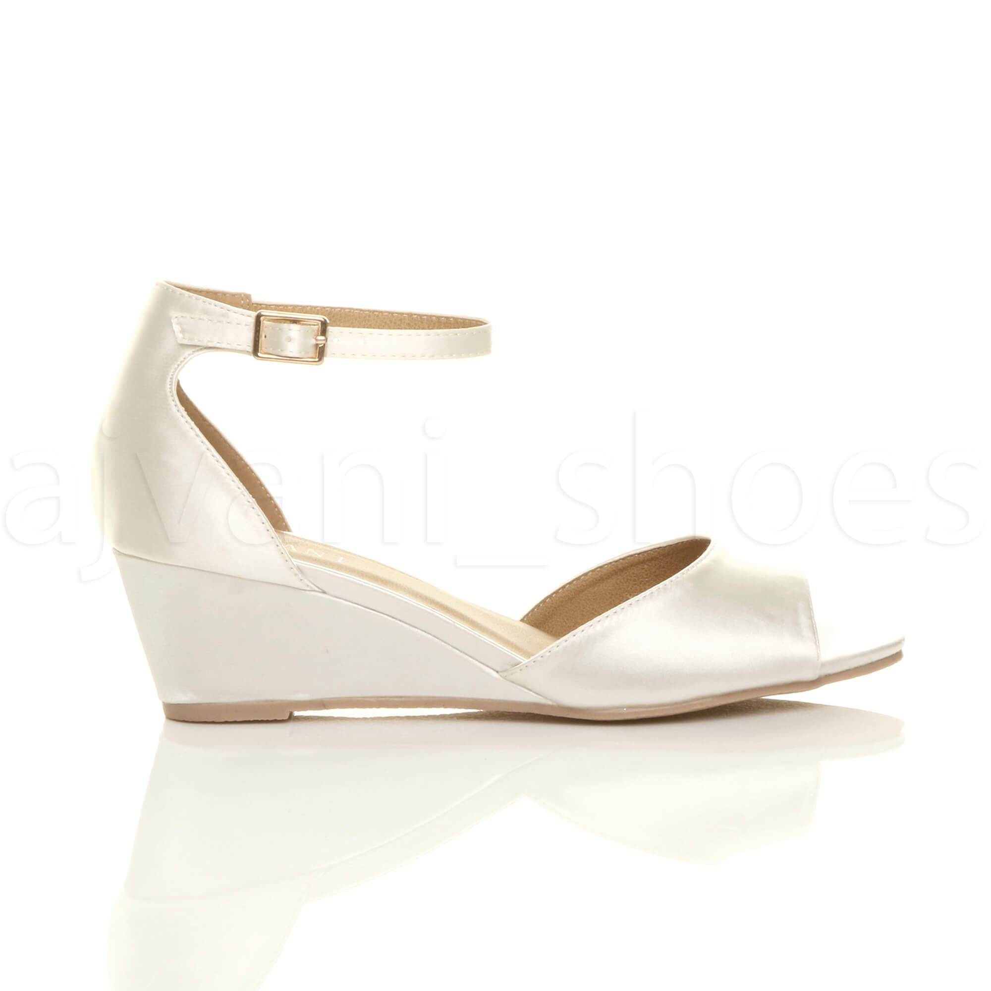WOMENS-LADIES-LOW-MID-WEDGE-HEEL-ANKLE-STRAP-SMART-CASUAL-EVENING-SANDALS-SIZE thumbnail 67