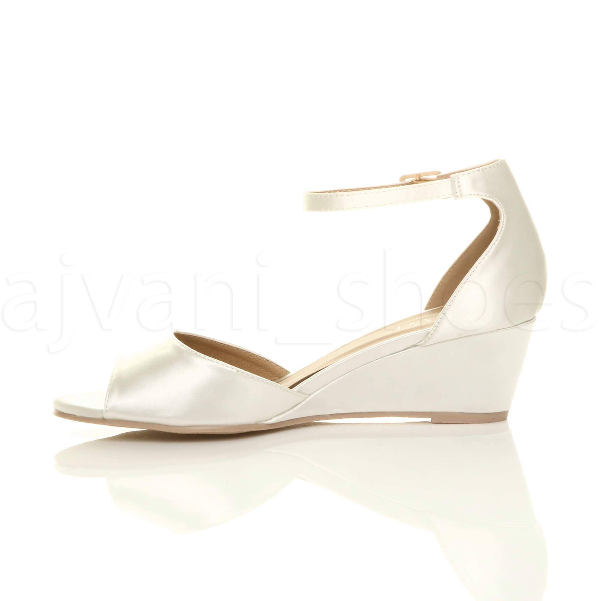 WOMENS-LADIES-LOW-MID-WEDGE-HEEL-ANKLE-STRAP-SMART-CASUAL-EVENING-SANDALS-SIZE thumbnail 68