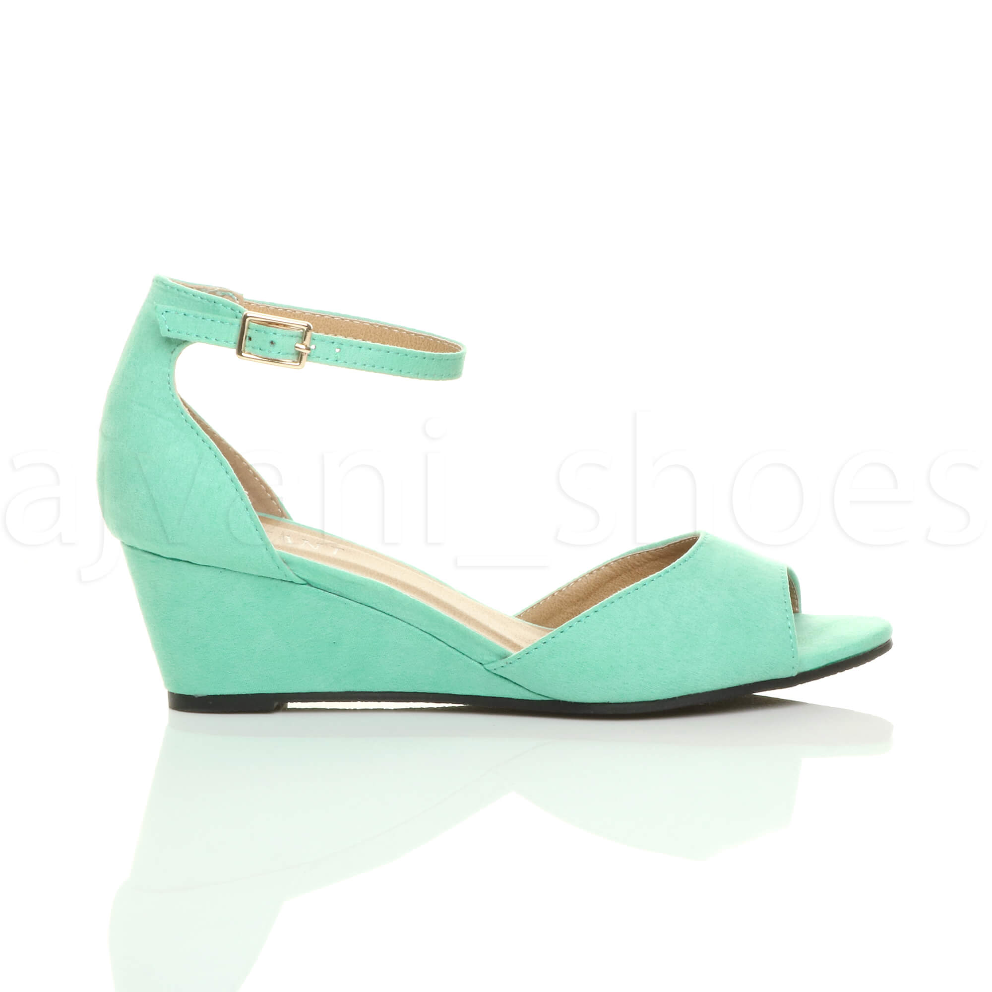 WOMENS-LADIES-LOW-MID-WEDGE-HEEL-ANKLE-STRAP-SMART-CASUAL-EVENING-SANDALS-SIZE thumbnail 75