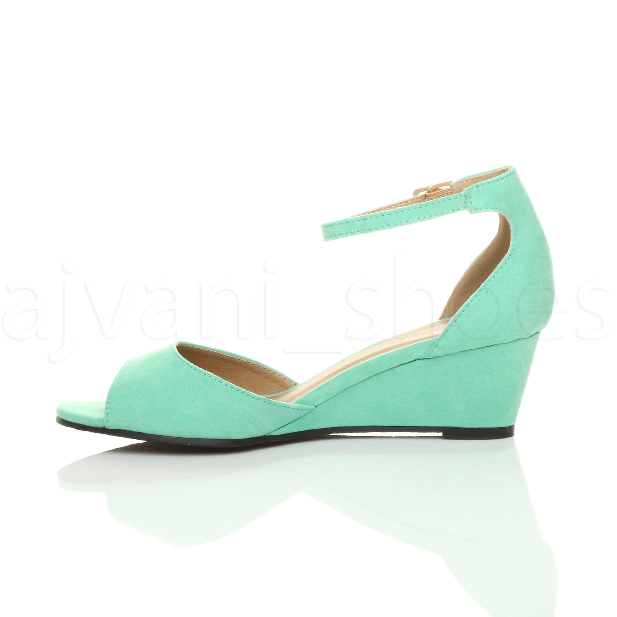 WOMENS-LADIES-LOW-MID-WEDGE-HEEL-ANKLE-STRAP-SMART-CASUAL-EVENING-SANDALS-SIZE thumbnail 76