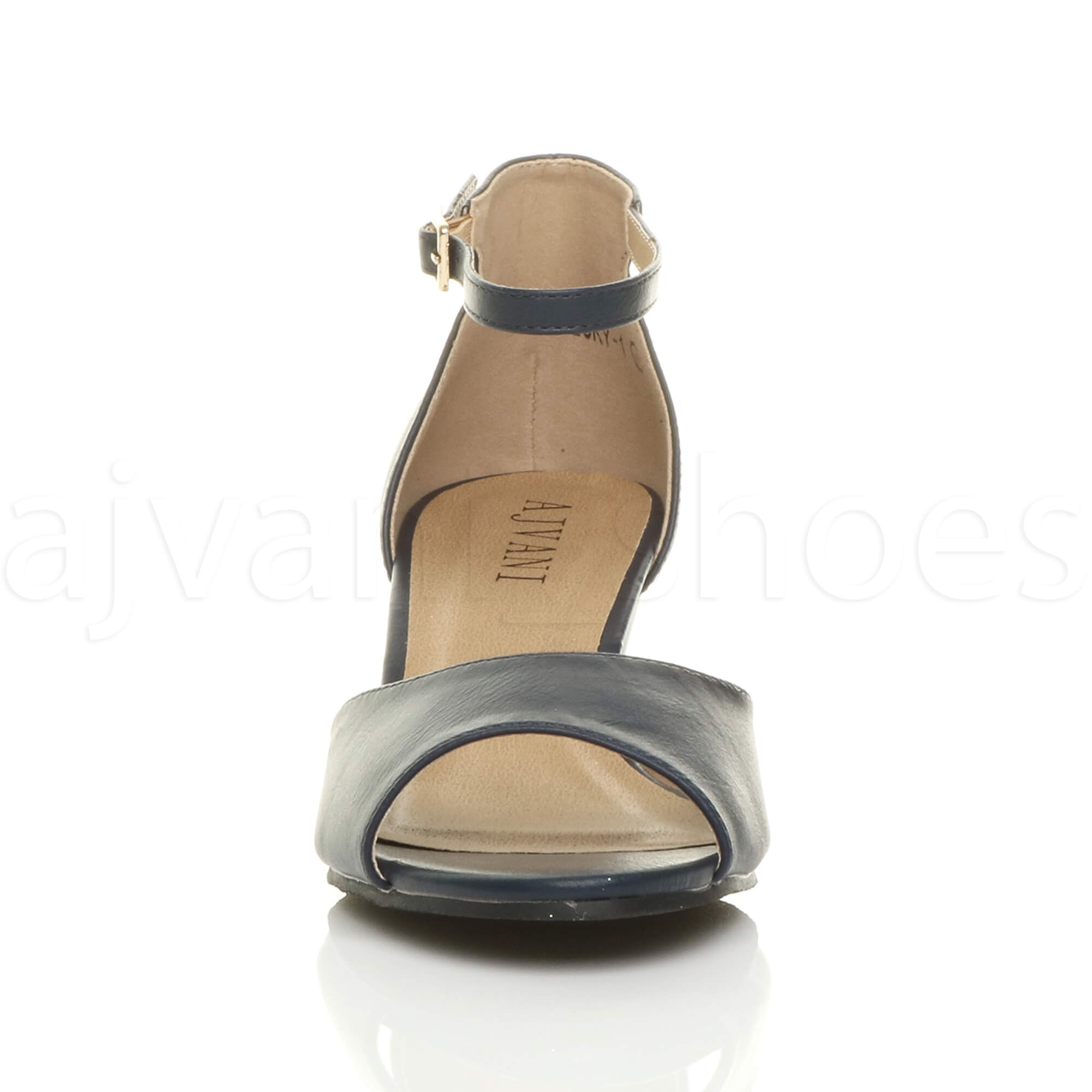 WOMENS-LADIES-LOW-MID-WEDGE-HEEL-ANKLE-STRAP-SMART-CASUAL-EVENING-SANDALS-SIZE thumbnail 87