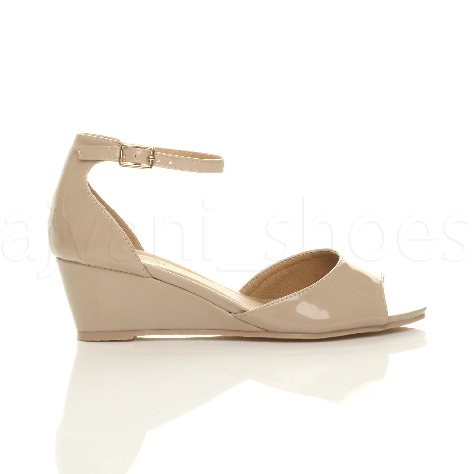 WOMENS-LADIES-LOW-MID-WEDGE-HEEL-ANKLE-STRAP-SMART-CASUAL-EVENING-SANDALS-SIZE thumbnail 99