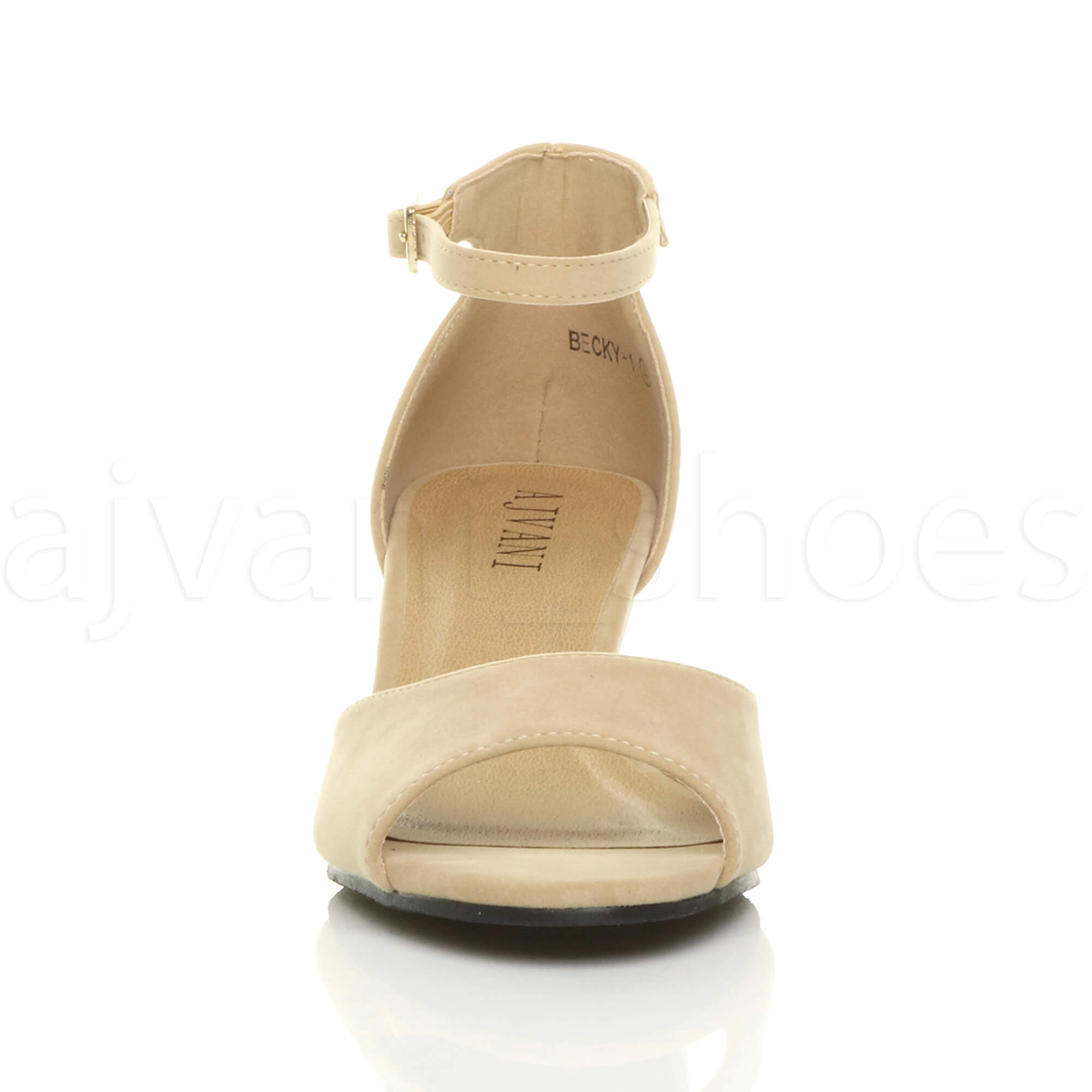 WOMENS-LADIES-LOW-MID-WEDGE-HEEL-ANKLE-STRAP-SMART-CASUAL-EVENING-SANDALS-SIZE thumbnail 111